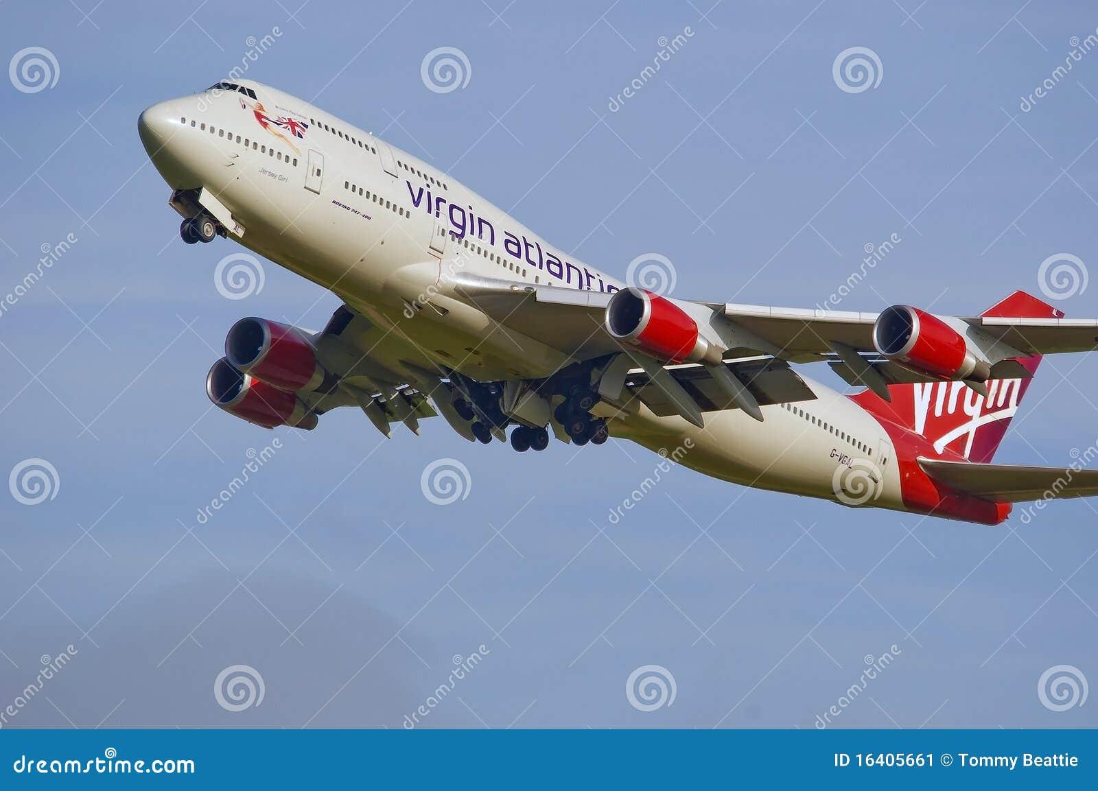 Maagdelijke Atlantische Jumbo 747