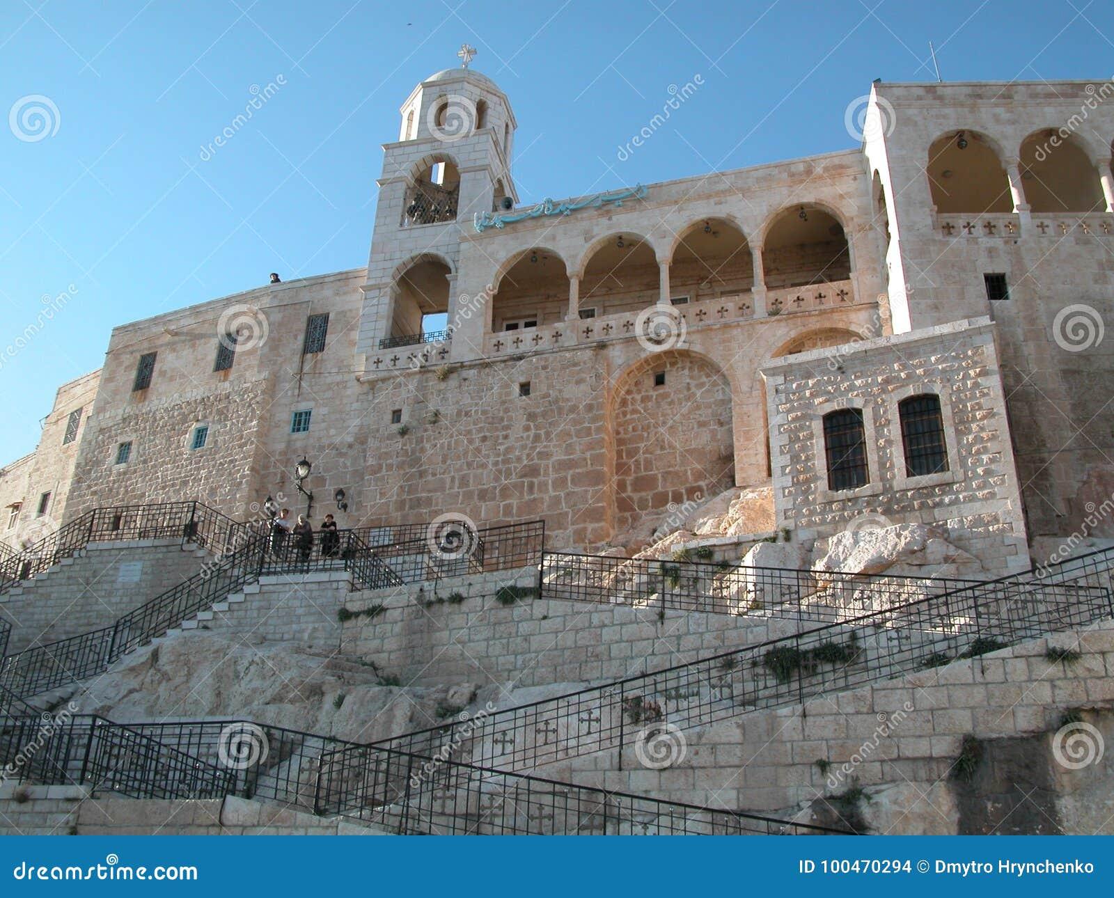 Maalula、叙利亚、修道院和基督徒村庄 大马士革, 2004年