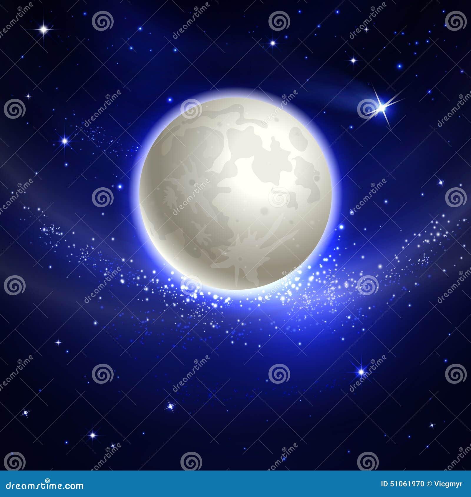 Maan in de nachthemel