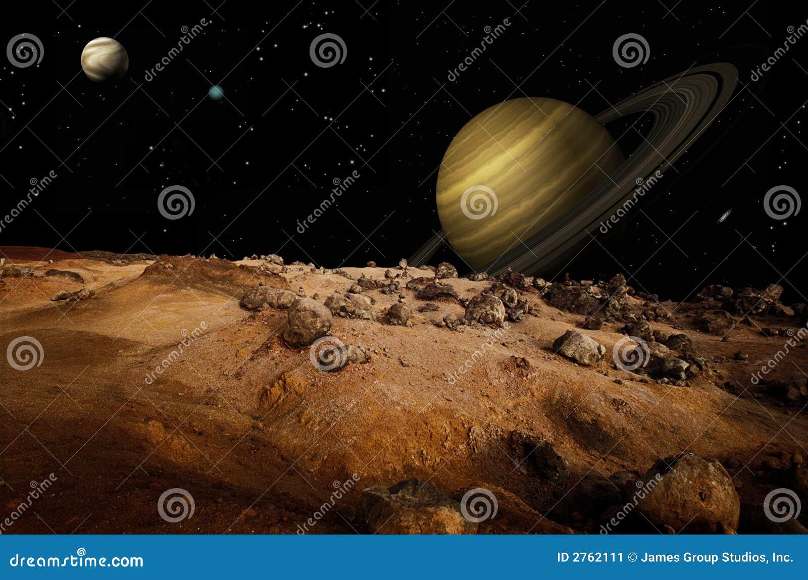 Maan Landschap Stock Afbeelding Afbeelding 2762111