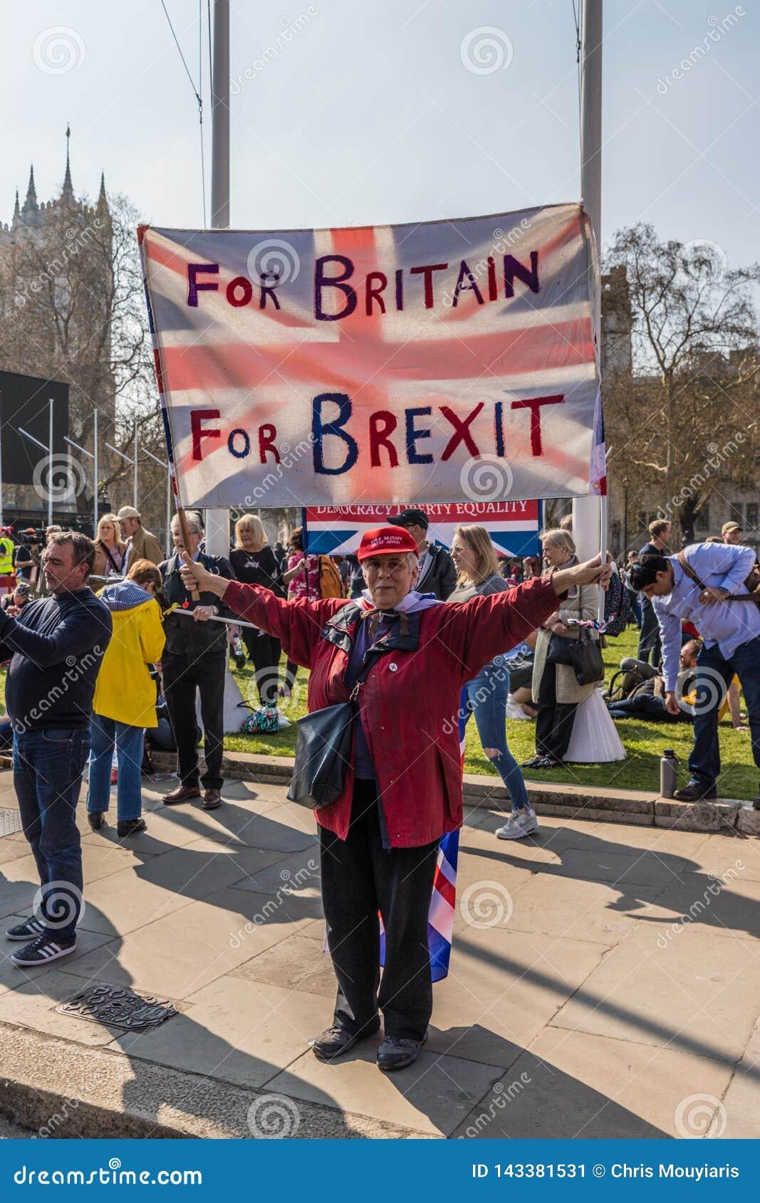 Maart voor brexitverdedigers op 29 Maart 2019