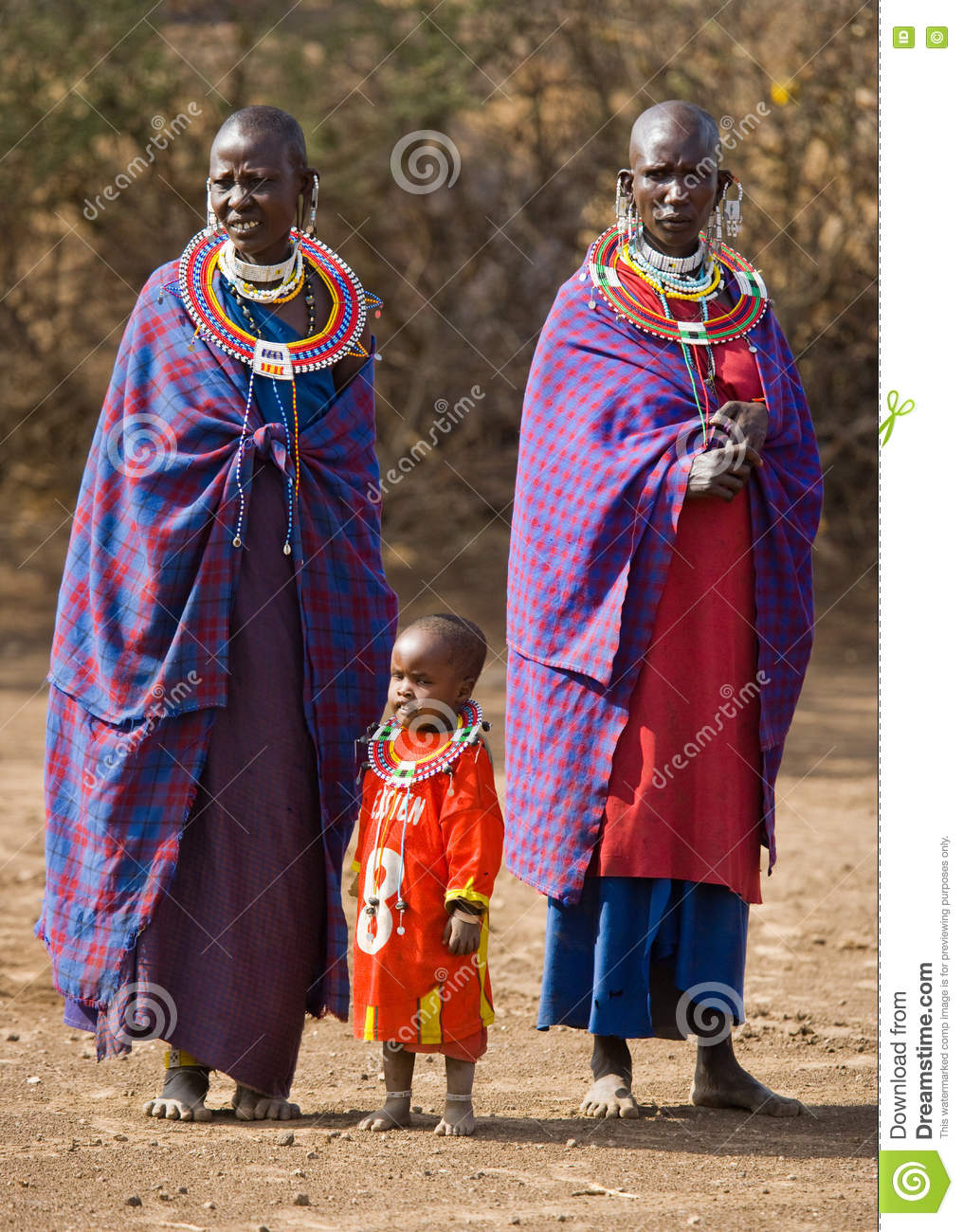 Maasai Woman In Traditional Clothing. Editorial Stock Image - Image ... e537a1eab2