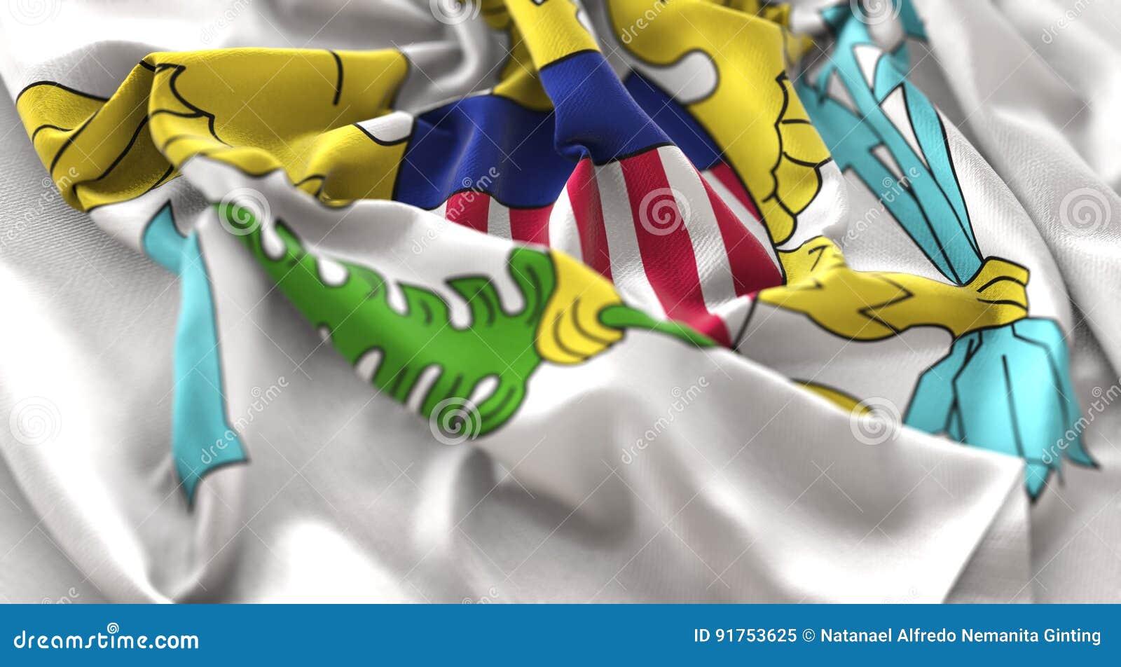 Mac Виргинских Островов (Американские) раздражанный флагом красиво развевая