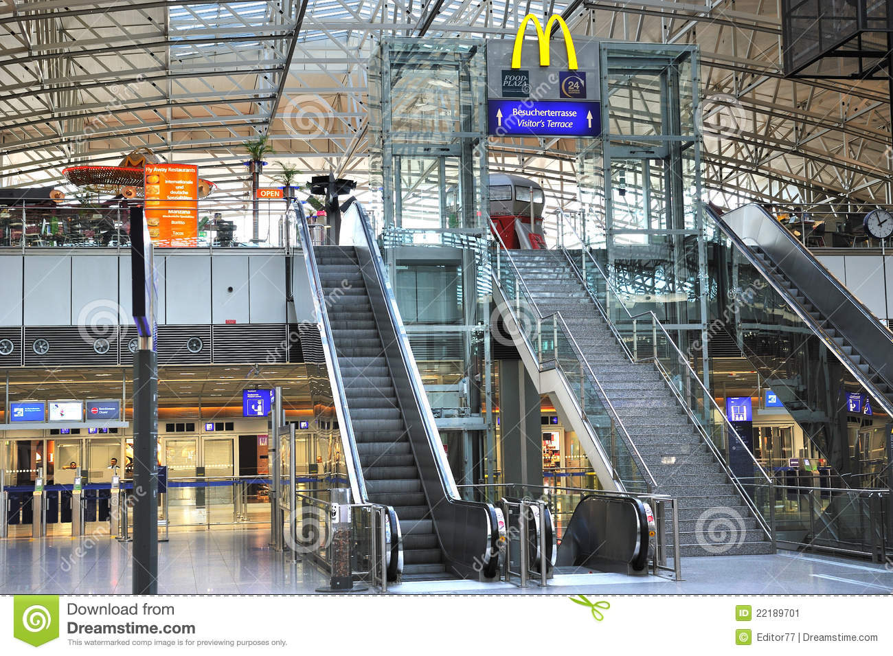 Frankfurt airport terminal editorial photo. Image of ...