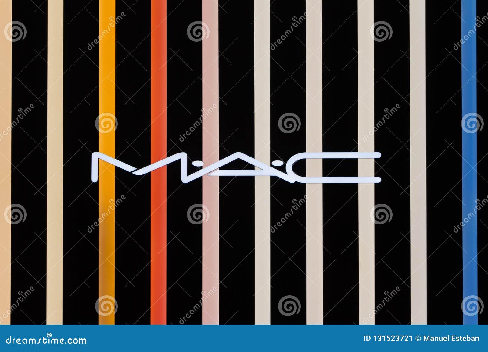 MAC logo on MAC`s shop editorial photo  Image of geometric - 131523721