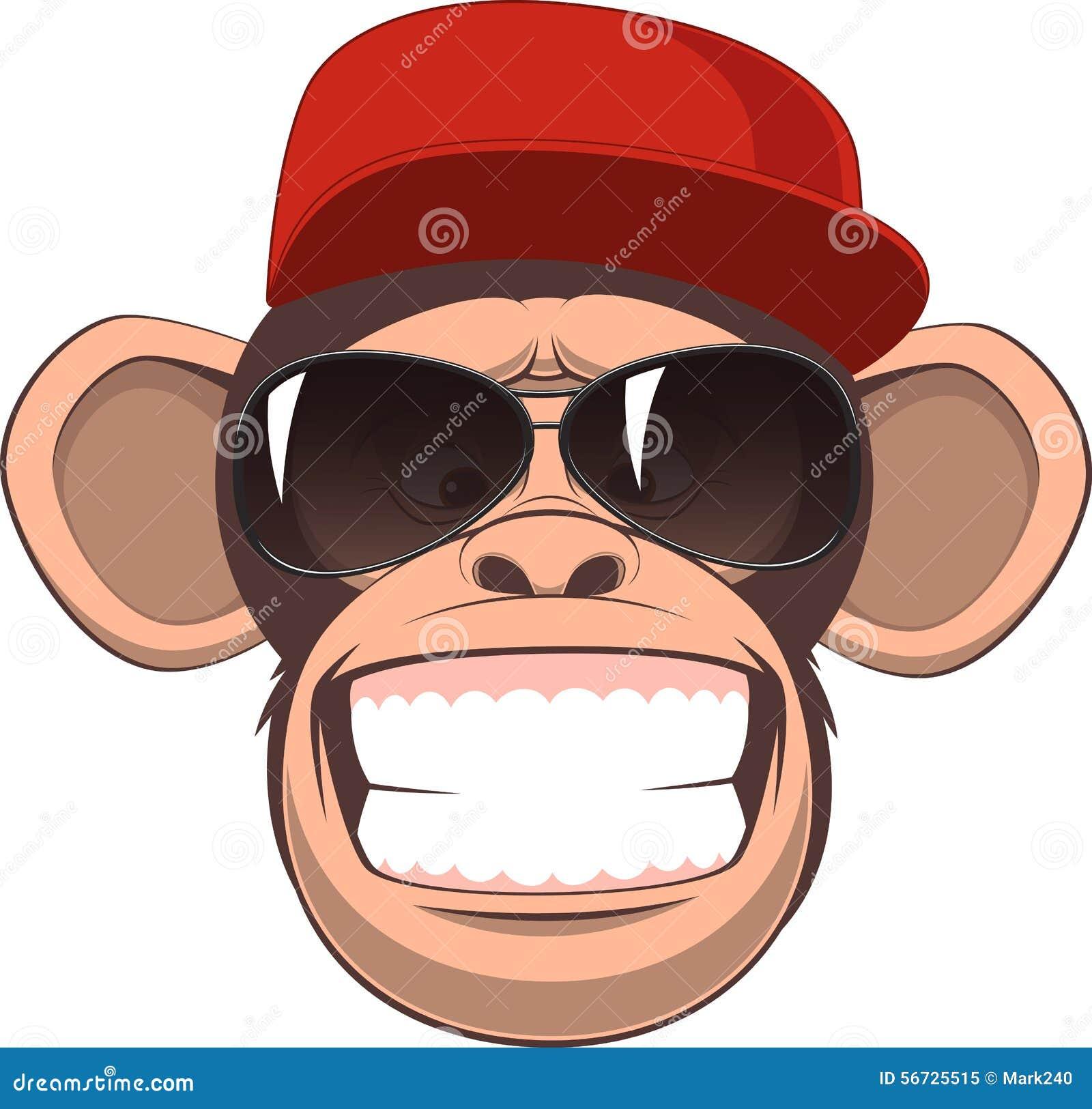170f36122e671 Macaco feliz ilustração do vetor. Ilustração de ícone - 56725515