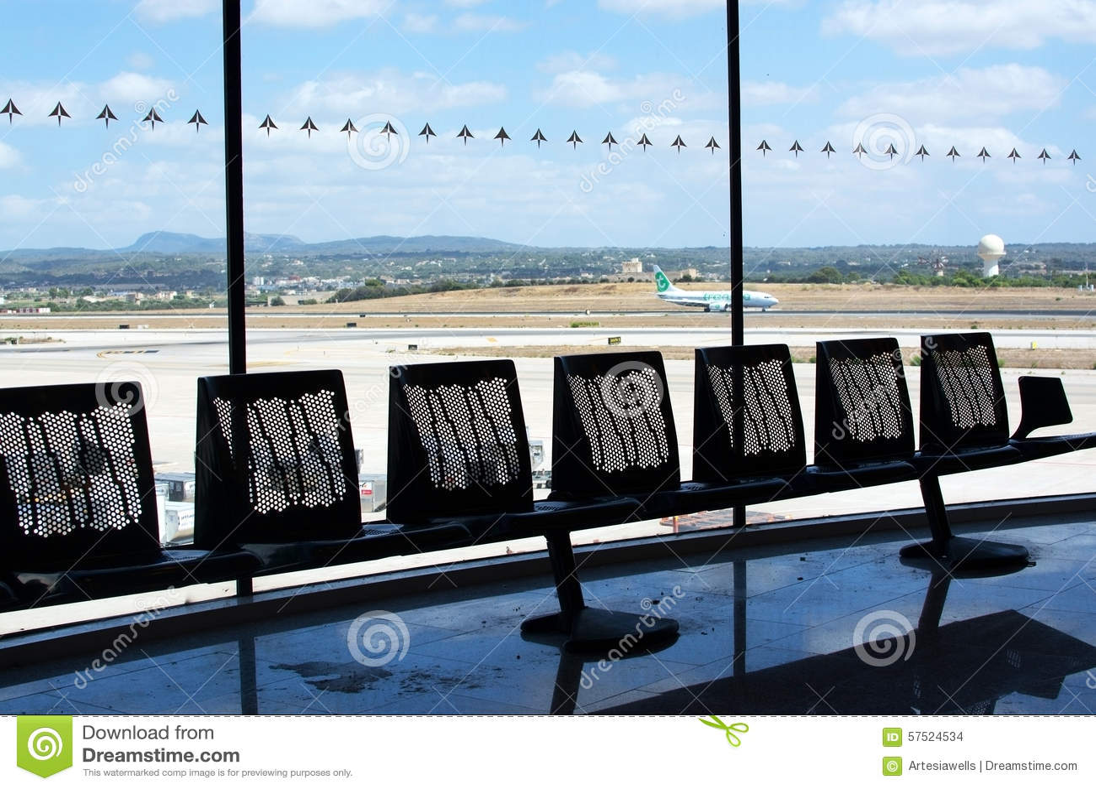 Macadam avec l avion