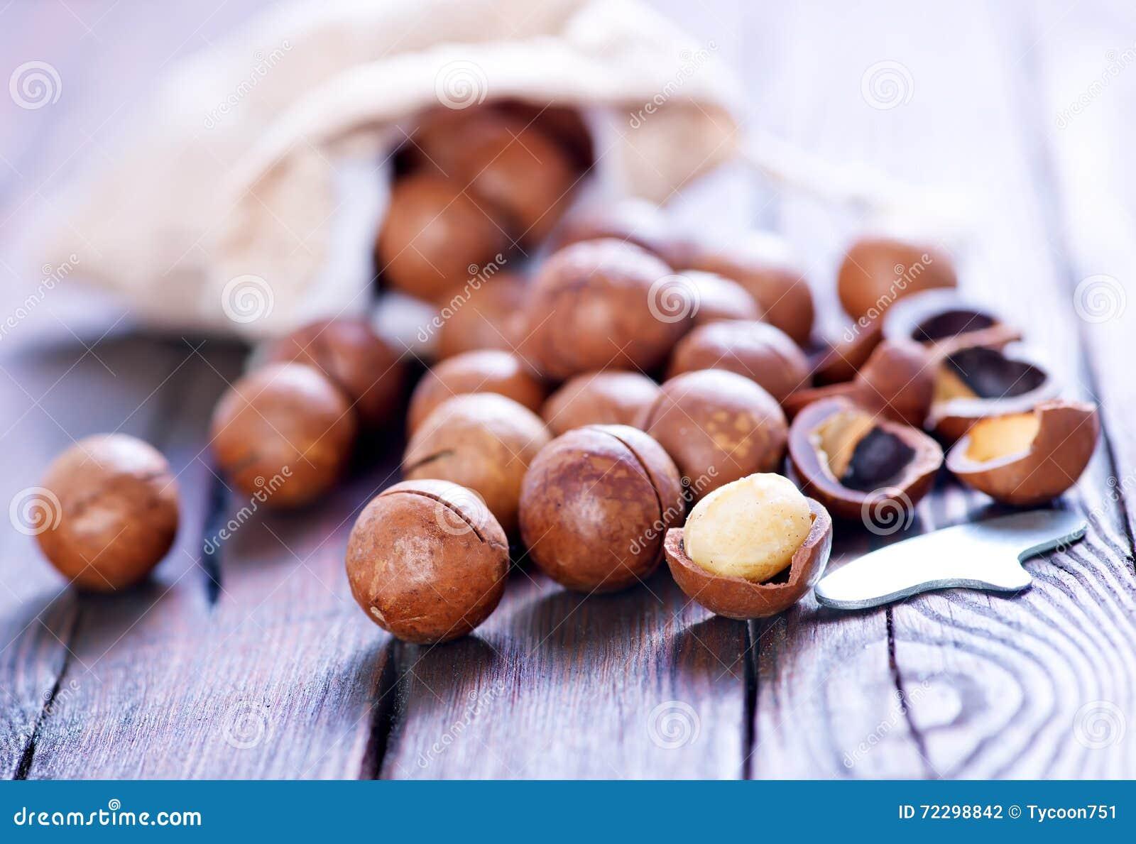 Download Macadamia стоковое фото. изображение насчитывающей гайка - 72298842