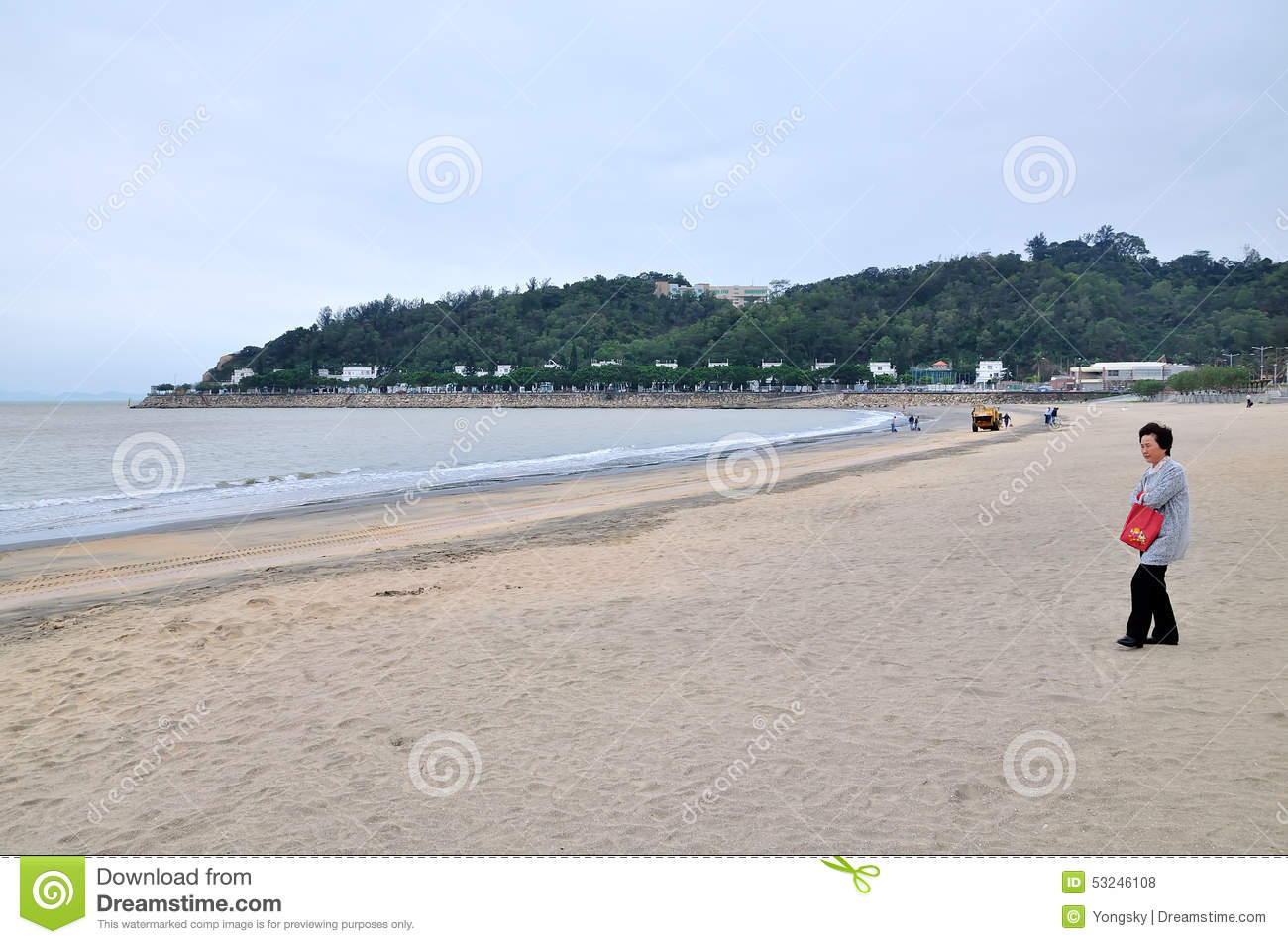 Macao black sand beach editorial stock photo. Image of chinese ...