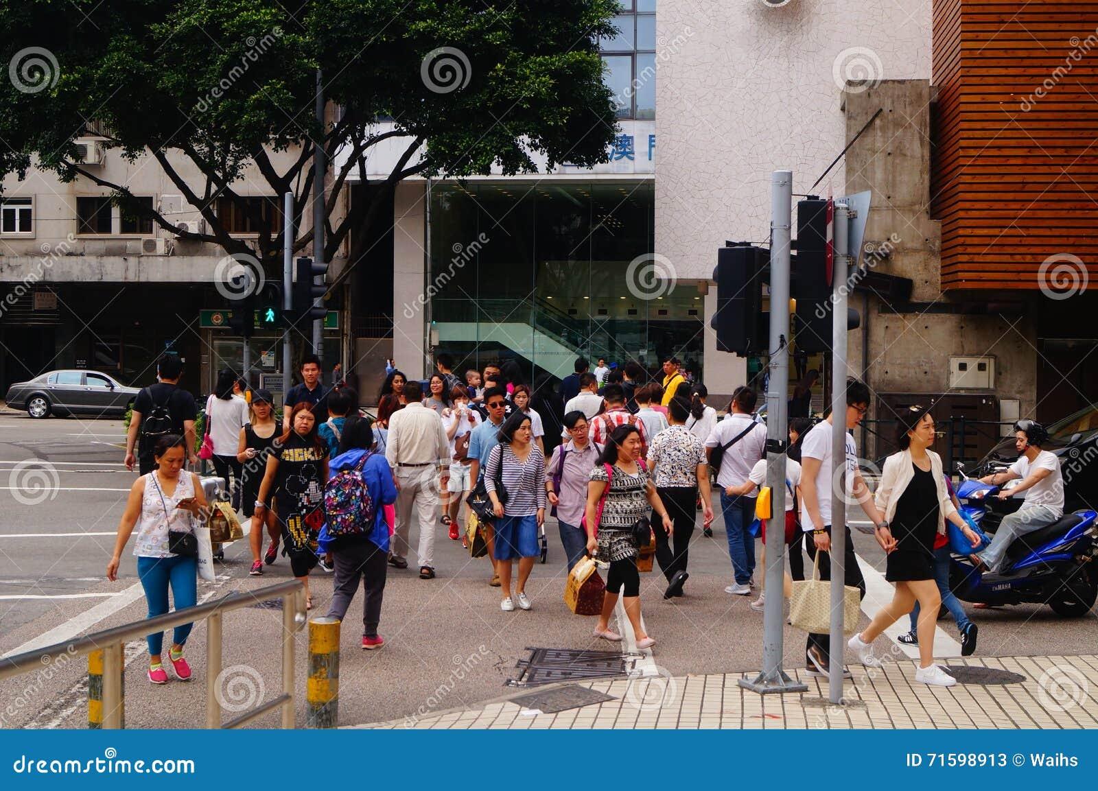 Macao, Cina: paesaggio urbano di traffico stradale