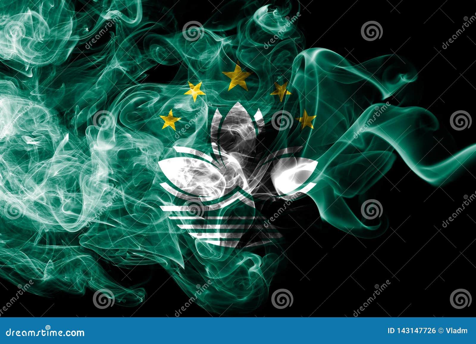 Macao rökflagga, beroende territoriumflagga