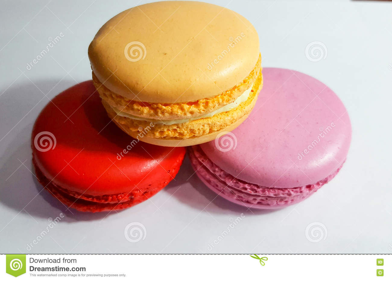 Macaron Is A French Confection Of Egg Whites, Powdered Sugar ...