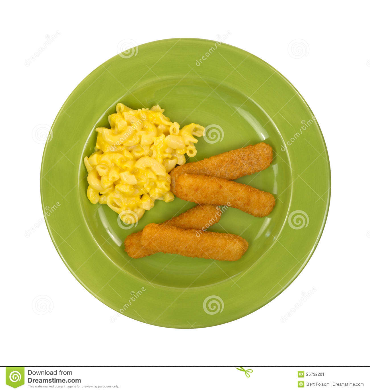 Macaroni and cheese with fish sticks stock image image for Fish and cheese