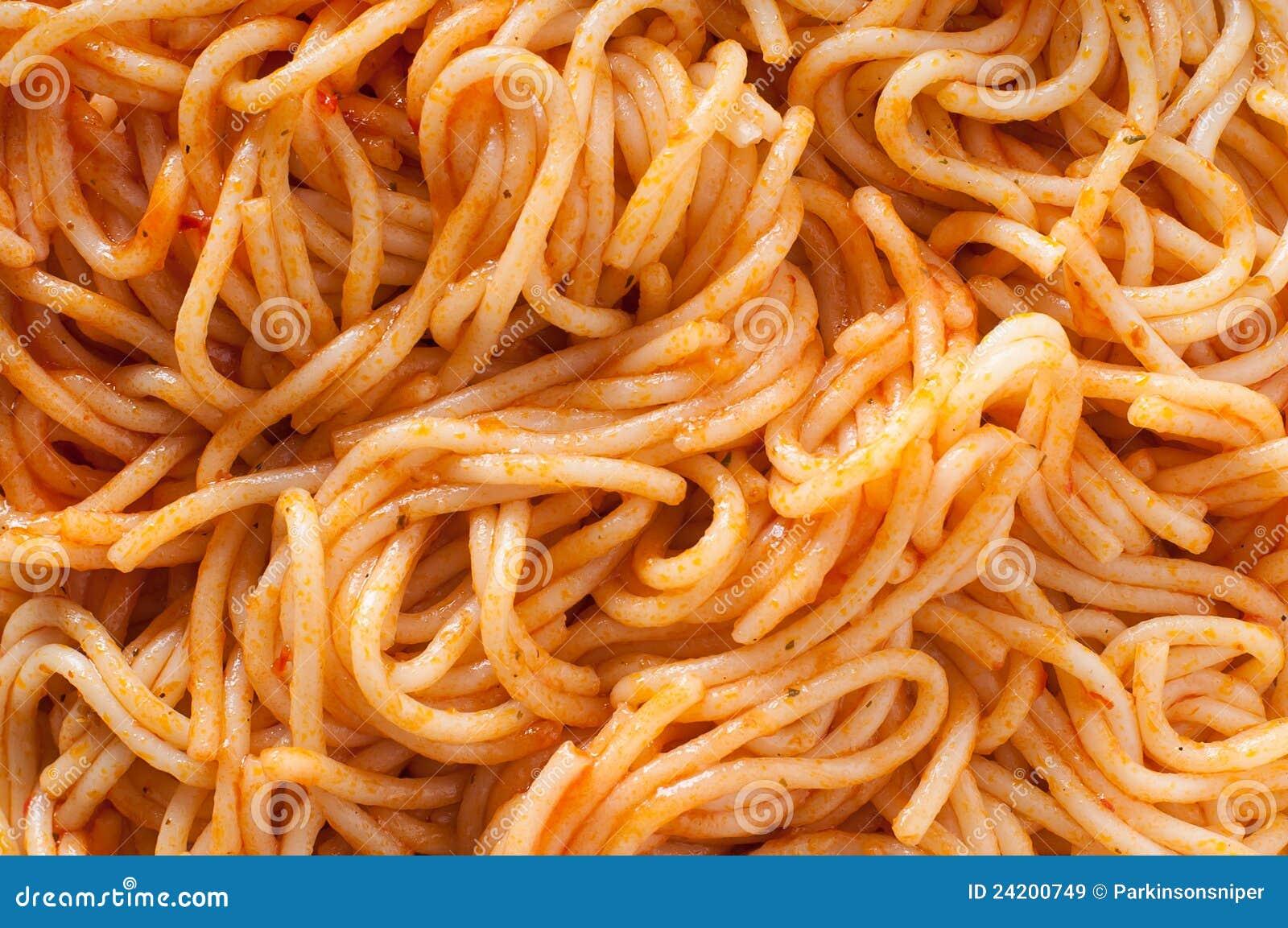 Macaroni - Dichte Omhooggaand van de Spaghetti