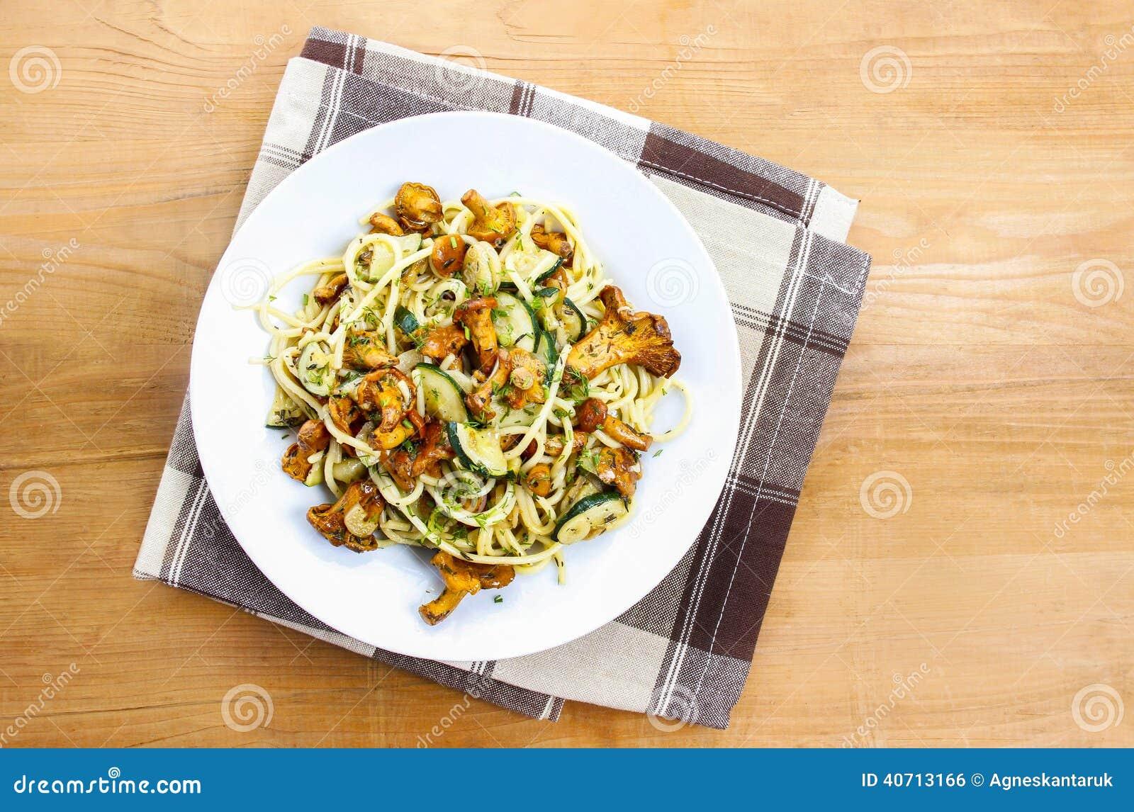 Macaroni met paddestoelen