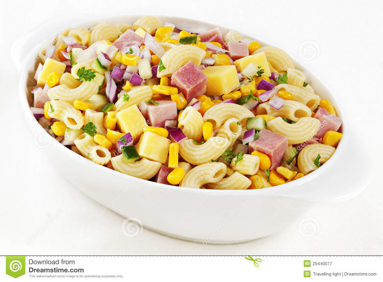 how to make macaroni salad with ham and cheese