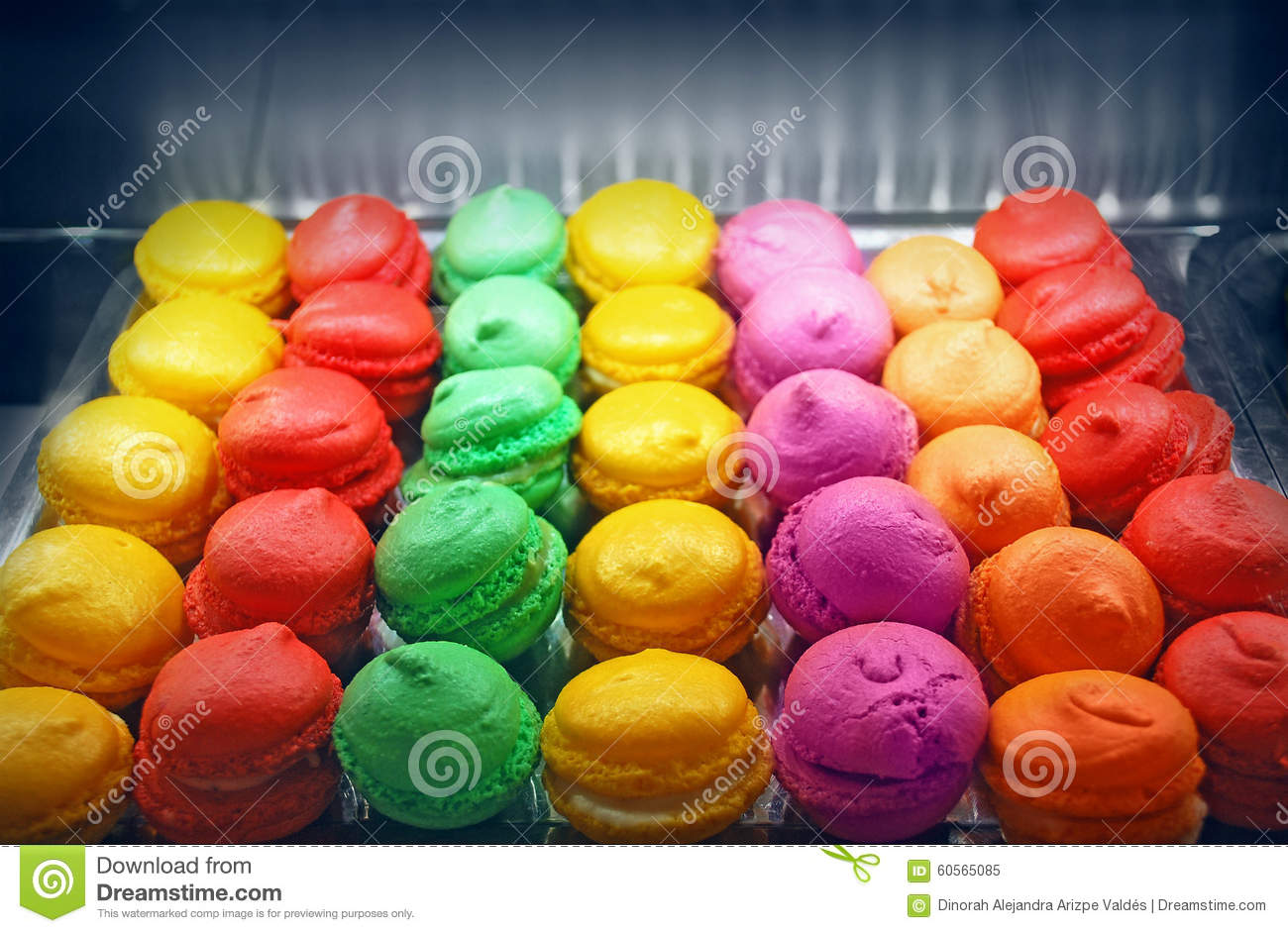 Macaroons in the oven