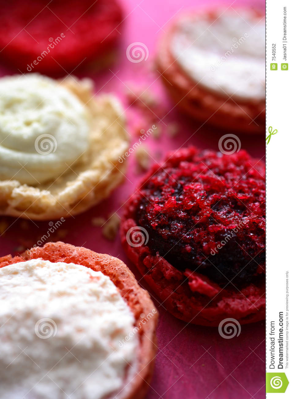 Macaroon Filling On Round Pastry Stock Photography - Image ...