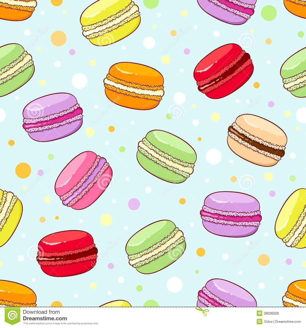 Macaroon Pattern Stock Vector - Image: 39036509