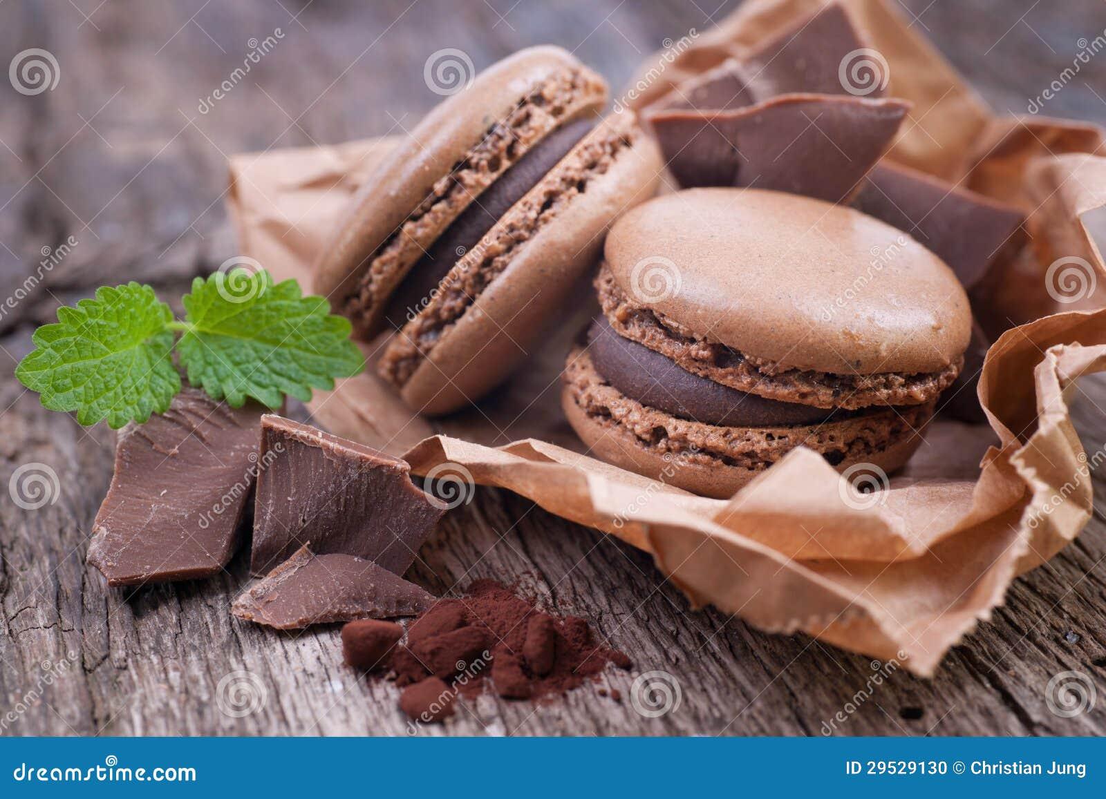 Macaroons com chocolate