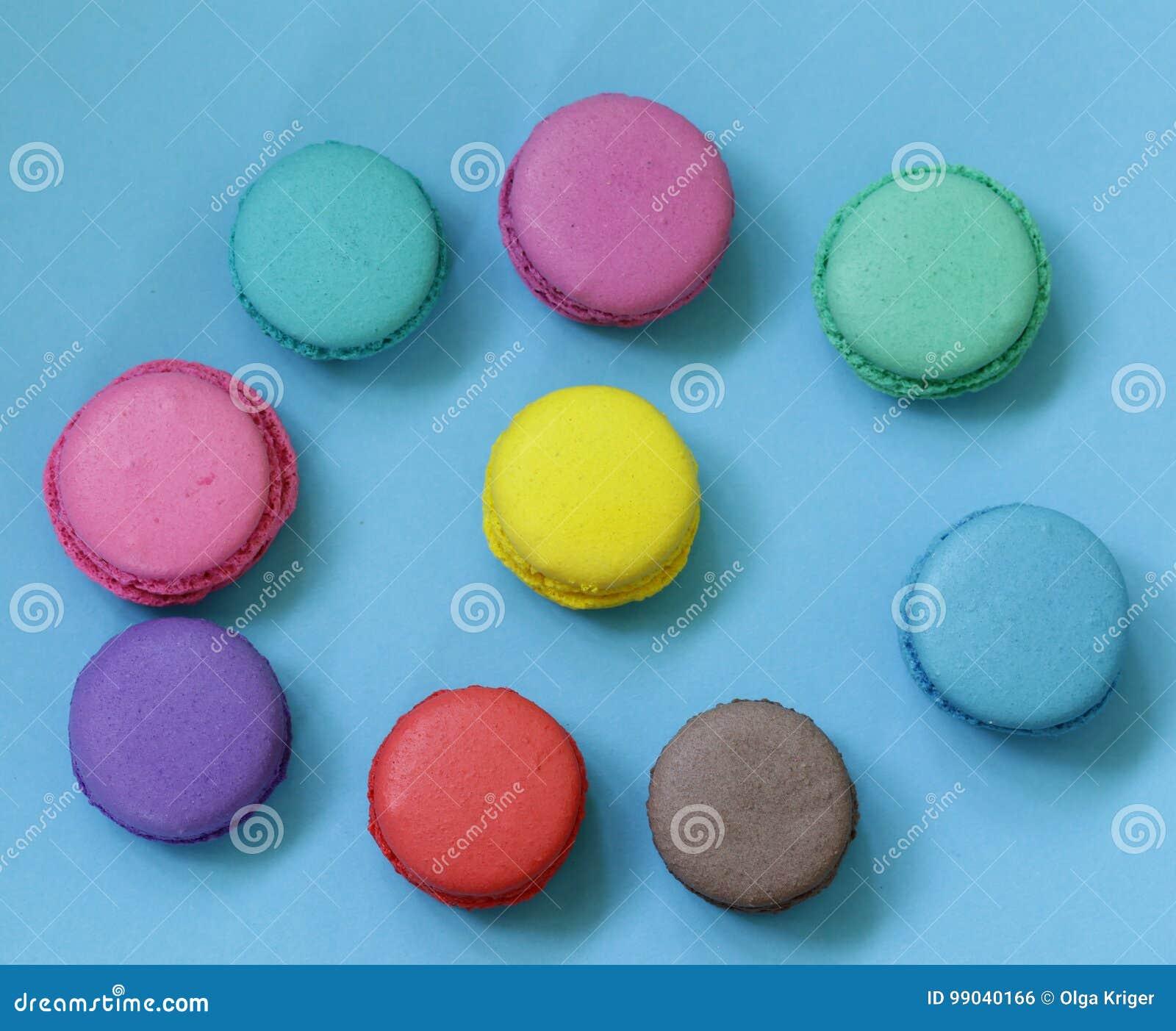 Macarrão colorido das cookies de amêndoa