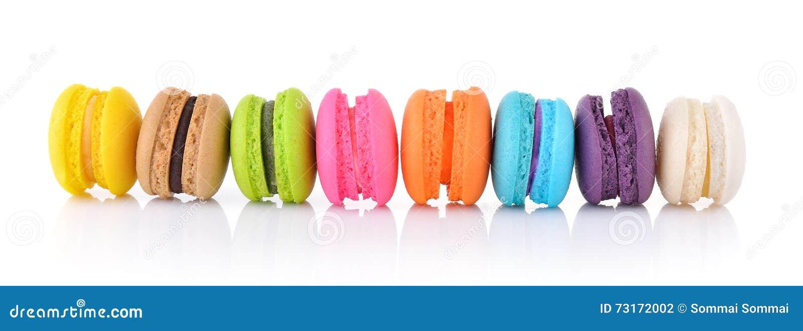 Macarrones franceses coloridos