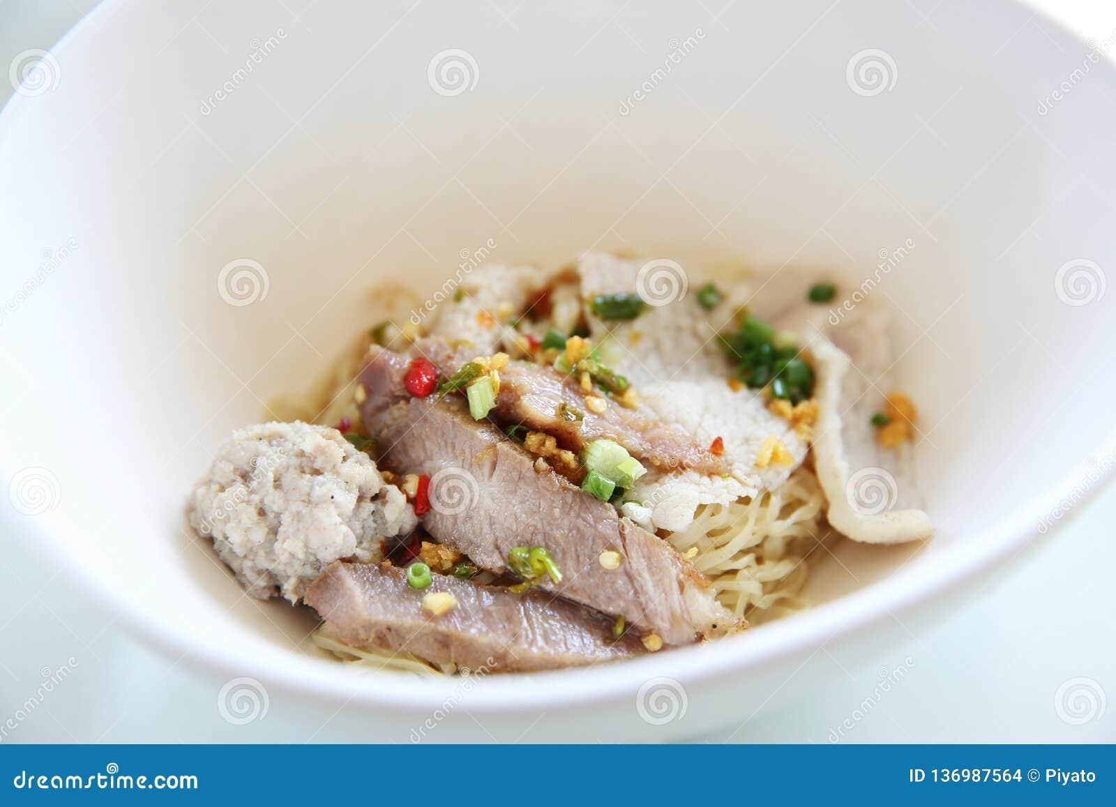 Macarronete tailandês do yum de Tom do alimento