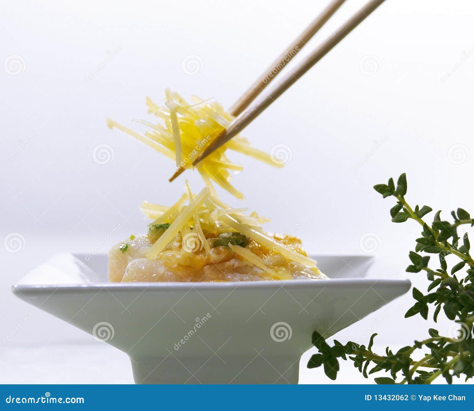 Macarronetes do sprout de feijão