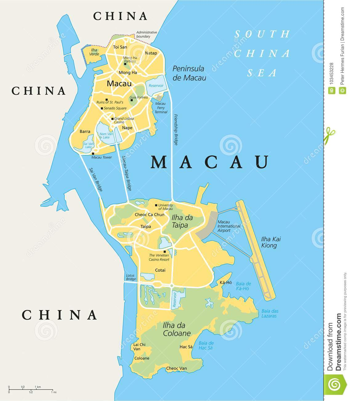 Macau Political Map stock vector. Illustration of verde ... on map of sao tome principe, map of hong kong, map of cantonese, map of nanjing university, map of mongolia, map of french equatorial africa, map china, map of bissau, map of hankou, map of scotland, map of sulaymaniyah, map of no. africa, map of ormuz, map of brunei, map of asia, map of cotai, map of malawi, map of democratic kampuchea, map of jinzhou, map of united arab of emirates,