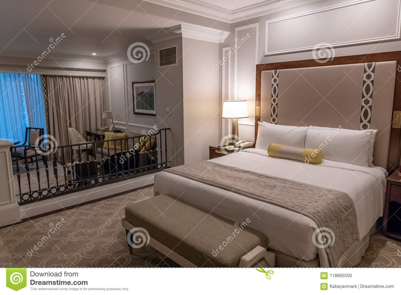 Macau venetian indoors interior design studio standard bedroom suite decoration travel mo people