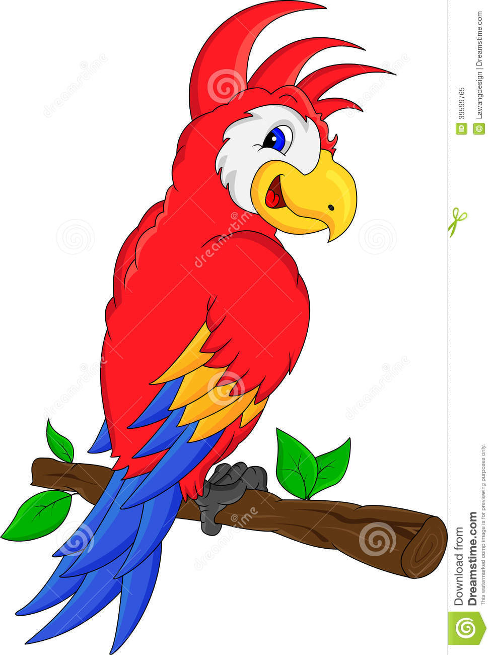 macaw bird cartoon stock vector illustration of drawing 39599765 rh dreamstime com scarlet macaw clipart macaw bird clipart