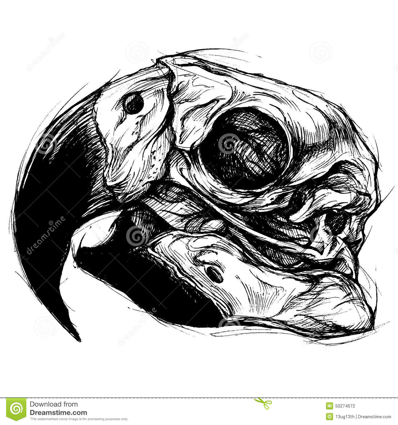 scary skull drawings