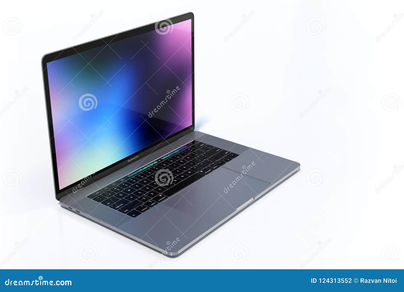 Macbook Pro 15 Inch Laptop Computers Colorful Scene Editorial