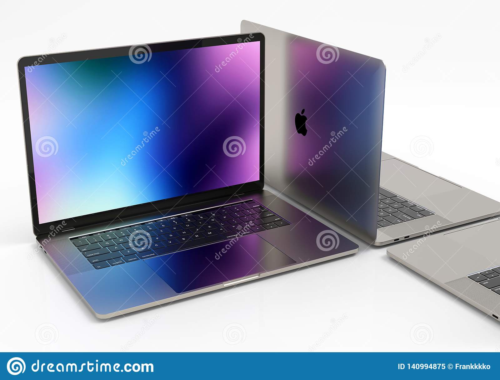 Macbook Pro Laptop Computers Composition Editorial Image Image Of