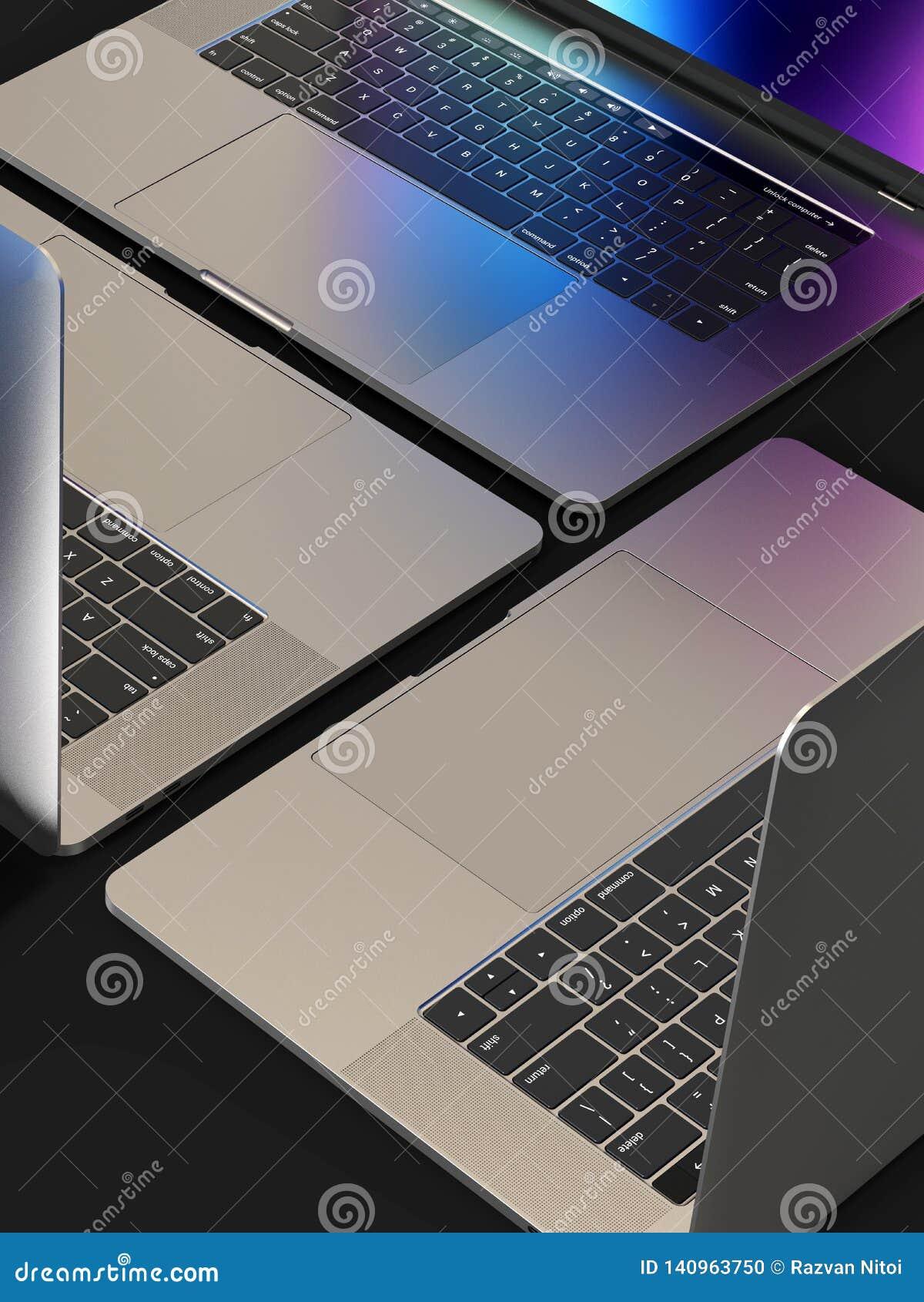 MacBook Pro style laptop computers, composition