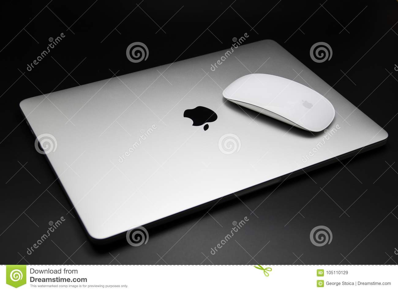 Macbook Pro 2016 Touch Bar And Mouse Editorial Stock Image - Image