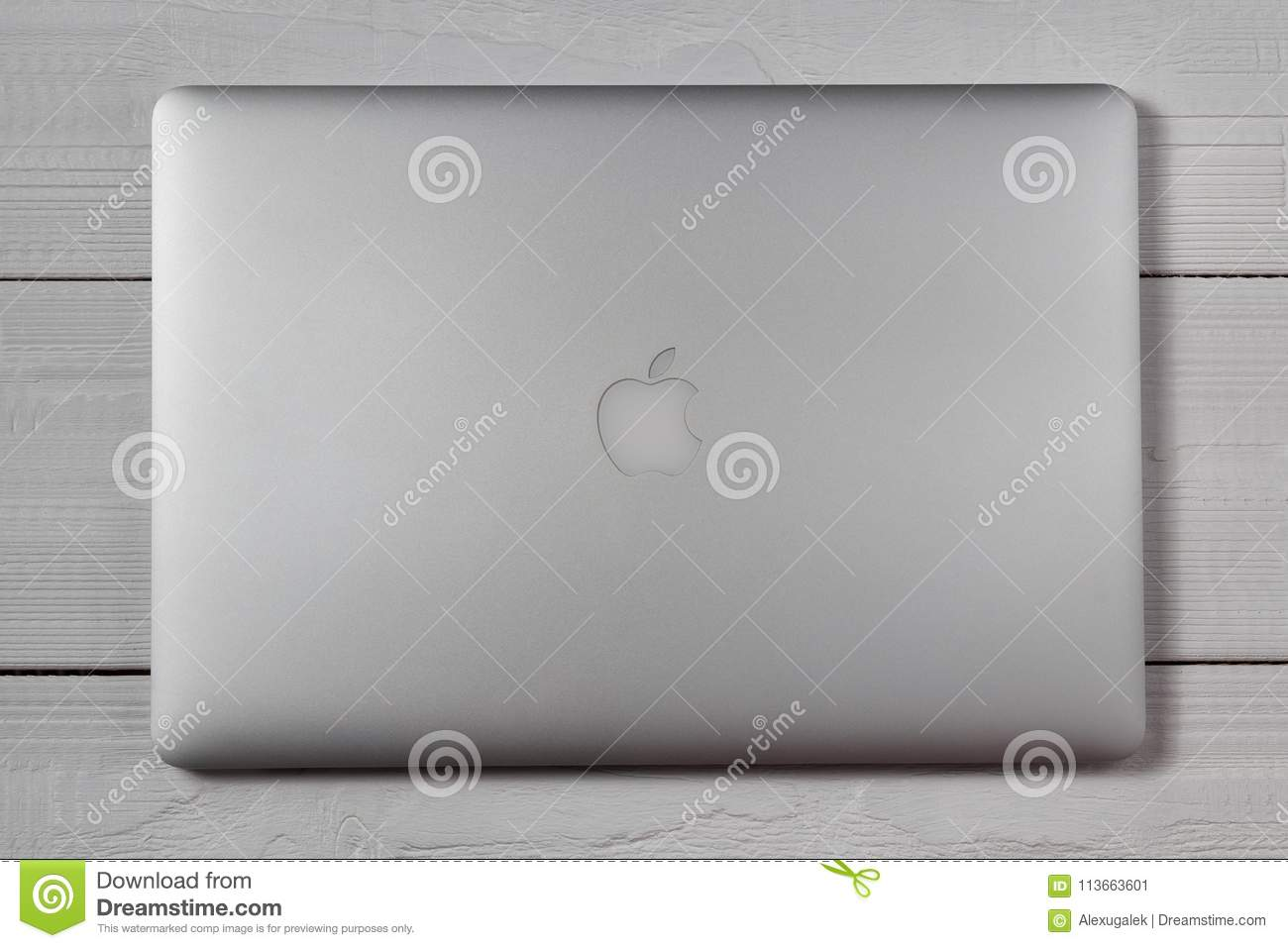 usa cheap sale reasonable price to buy Macbook Pro On Wooden Table Editorial Photo - Image of ...