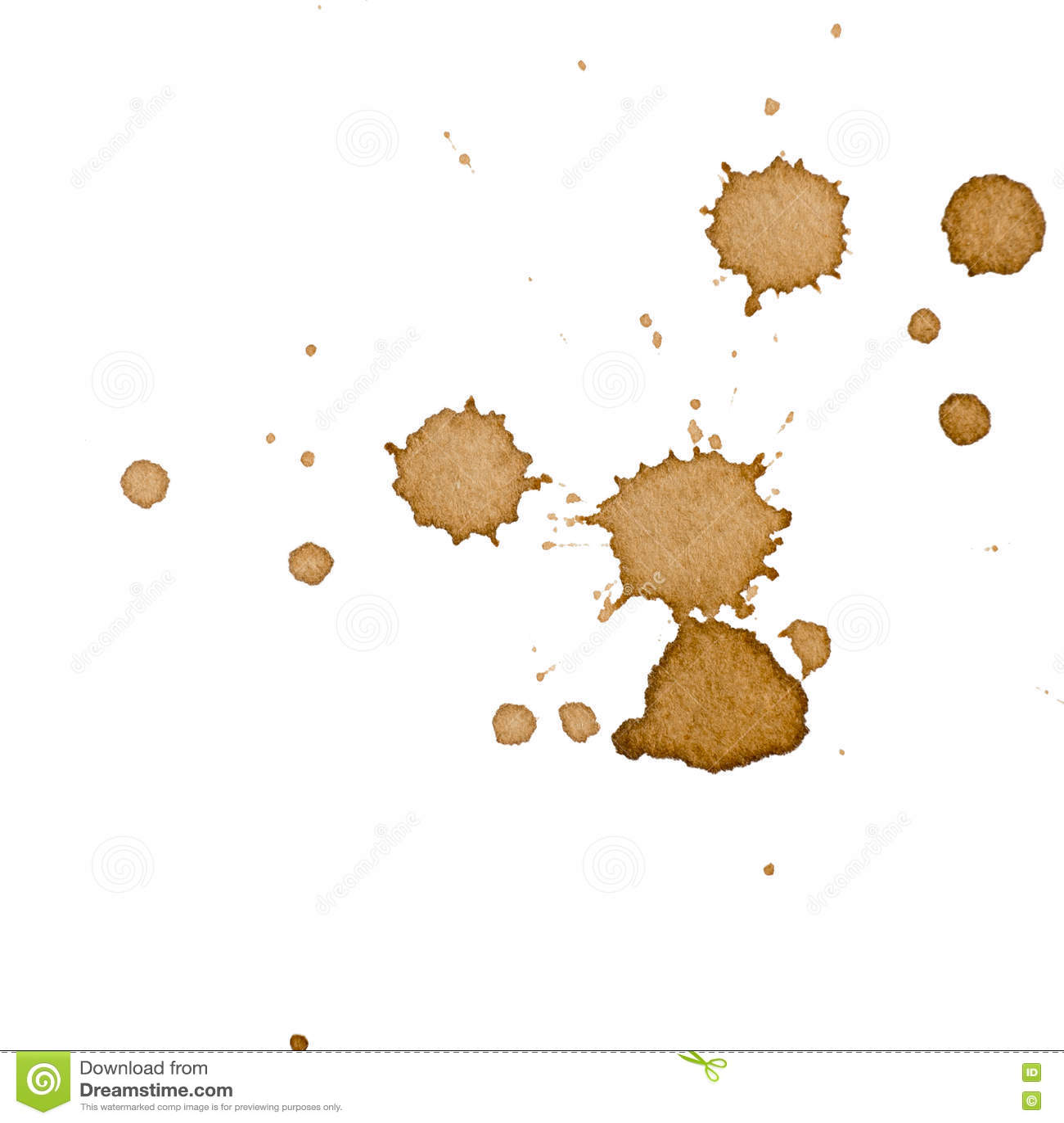 Macchia del caffè isolata
