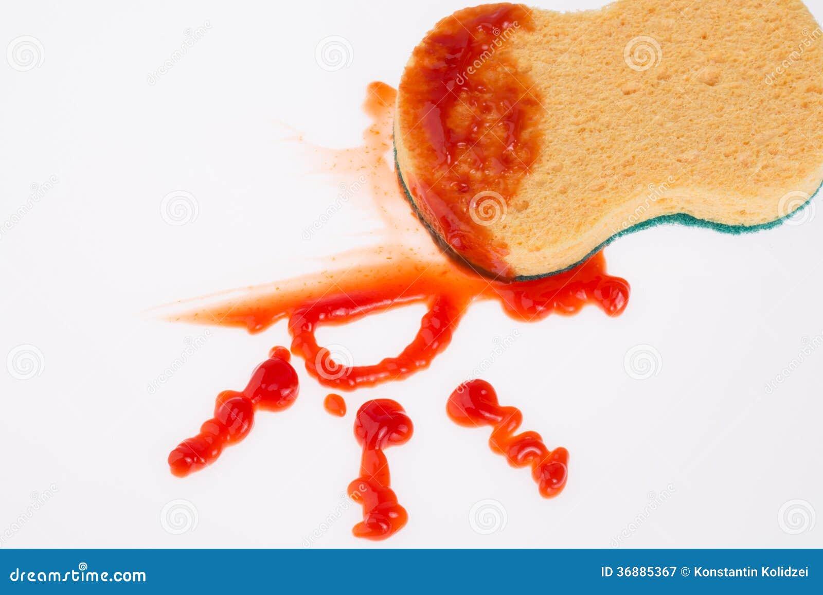 Download Macchia del ketchup immagine stock. Immagine di macchia - 36885367