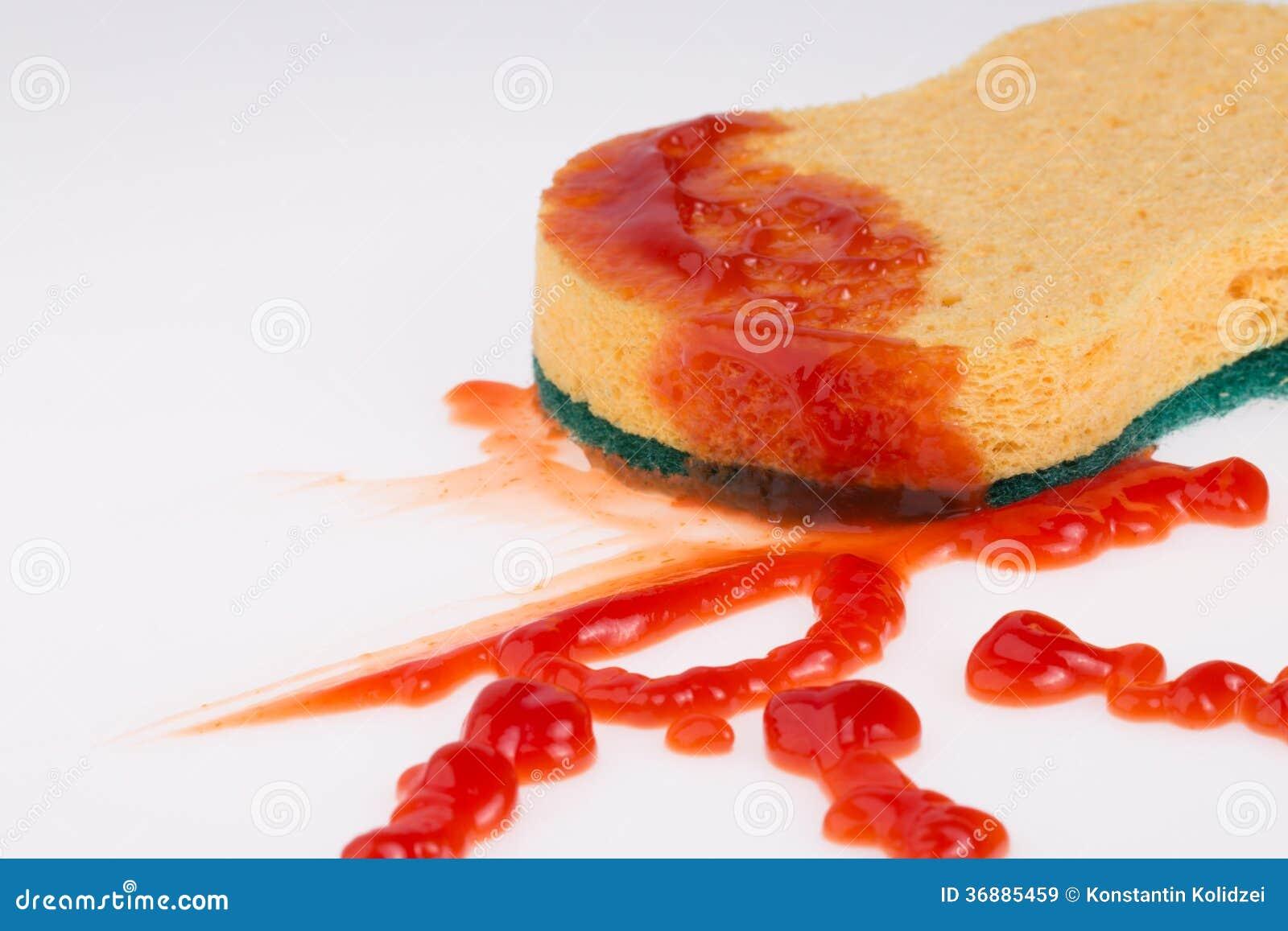 Download Macchia del ketchup immagine stock. Immagine di spezia - 36885459