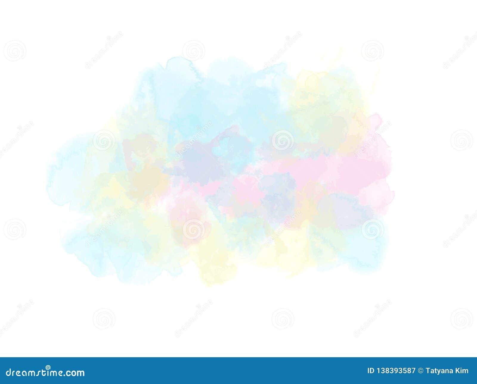 Macchia dell acquerello, fondo colorato semi-trasparente multicolored