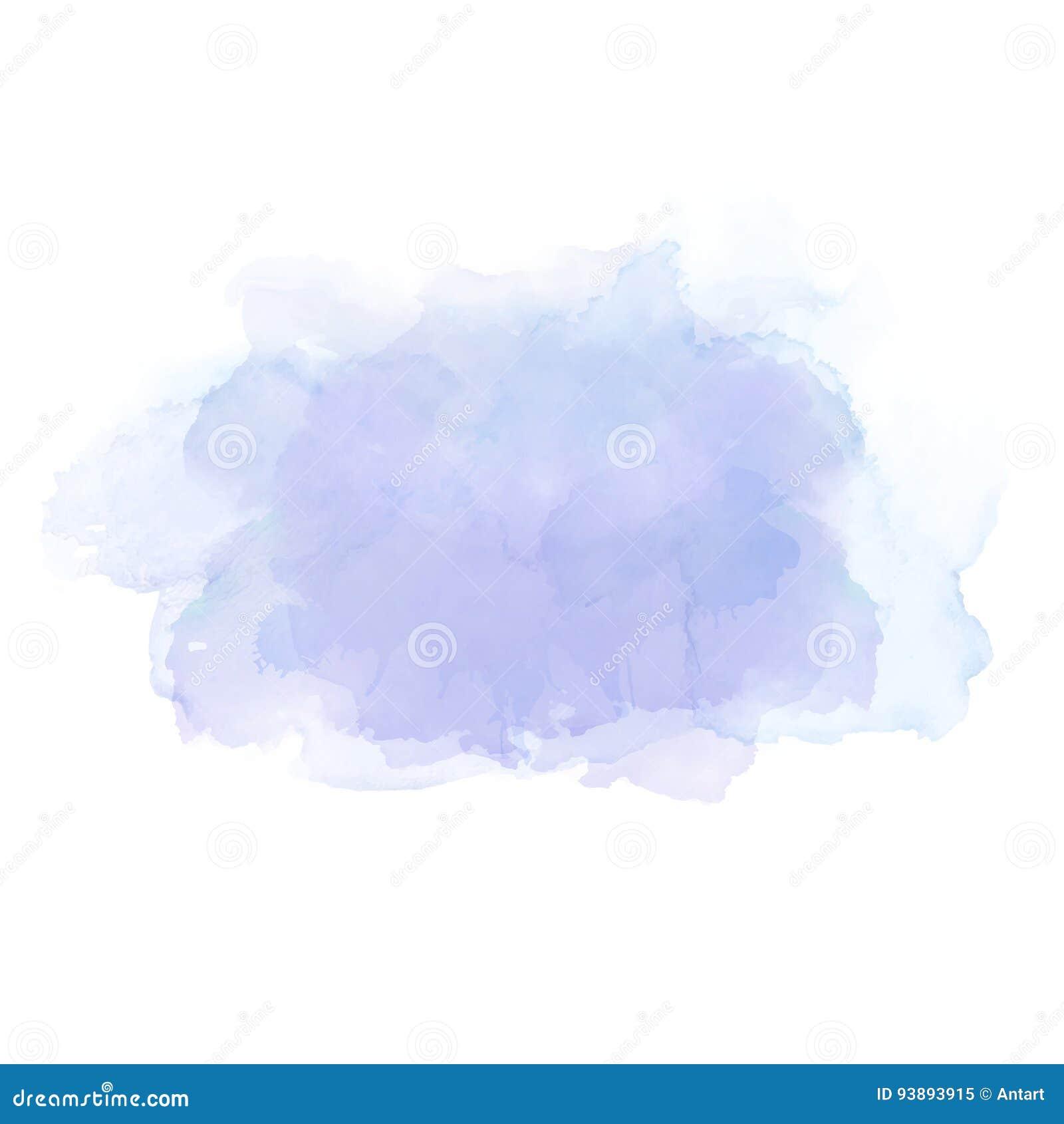 Macchie blu-chiaro dell acquerello Elemento elegante per fondo artistico astratto