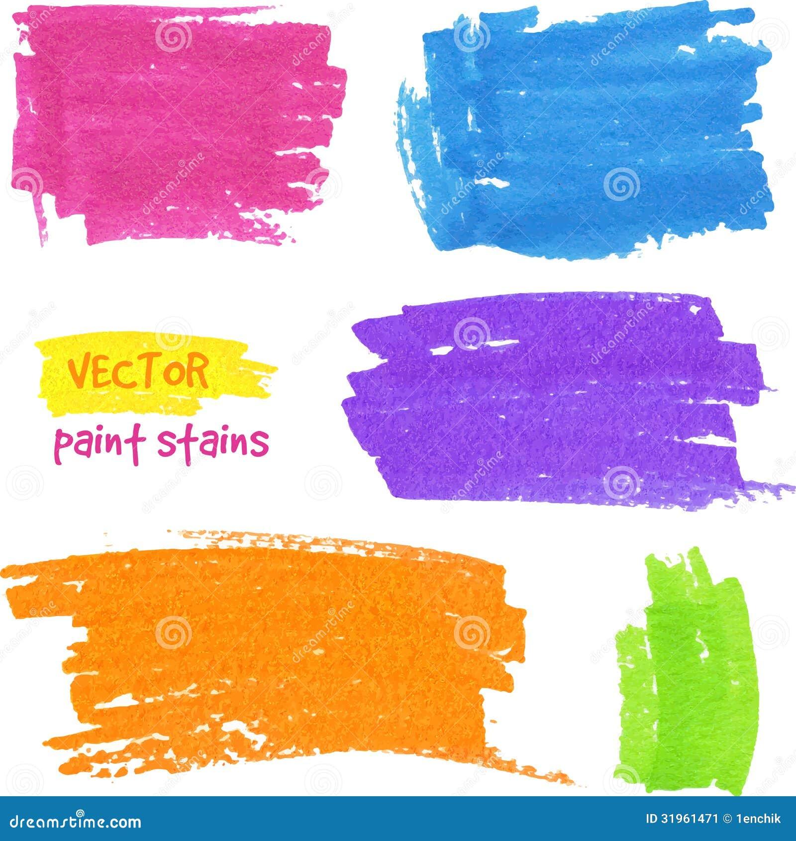 Macchie vibranti della penna del feltro di vettore di - Immagine del mouse a colori ...