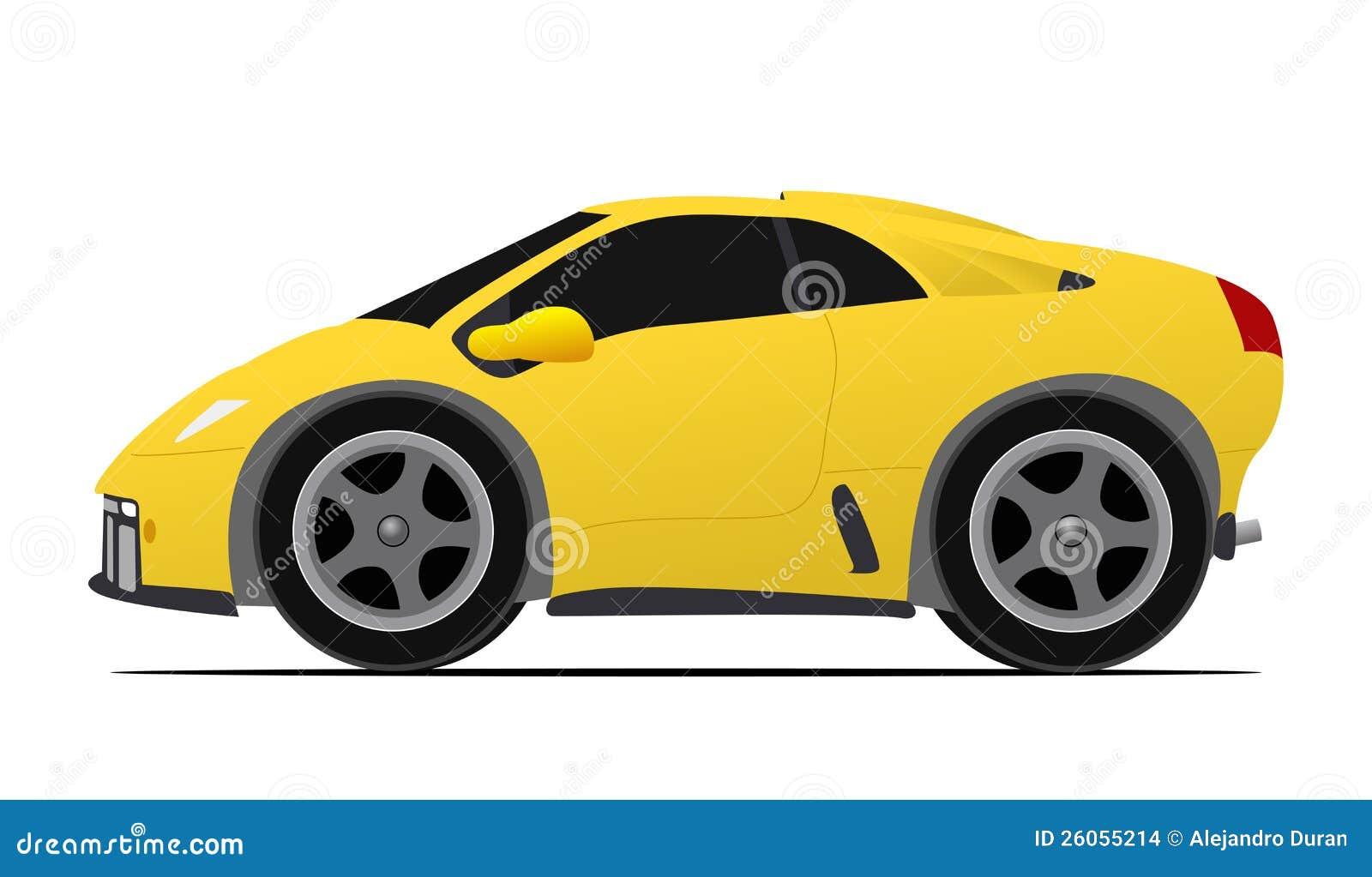 Macchina Da Corsa Gialla Immagini Stock - Immagine: 26055214