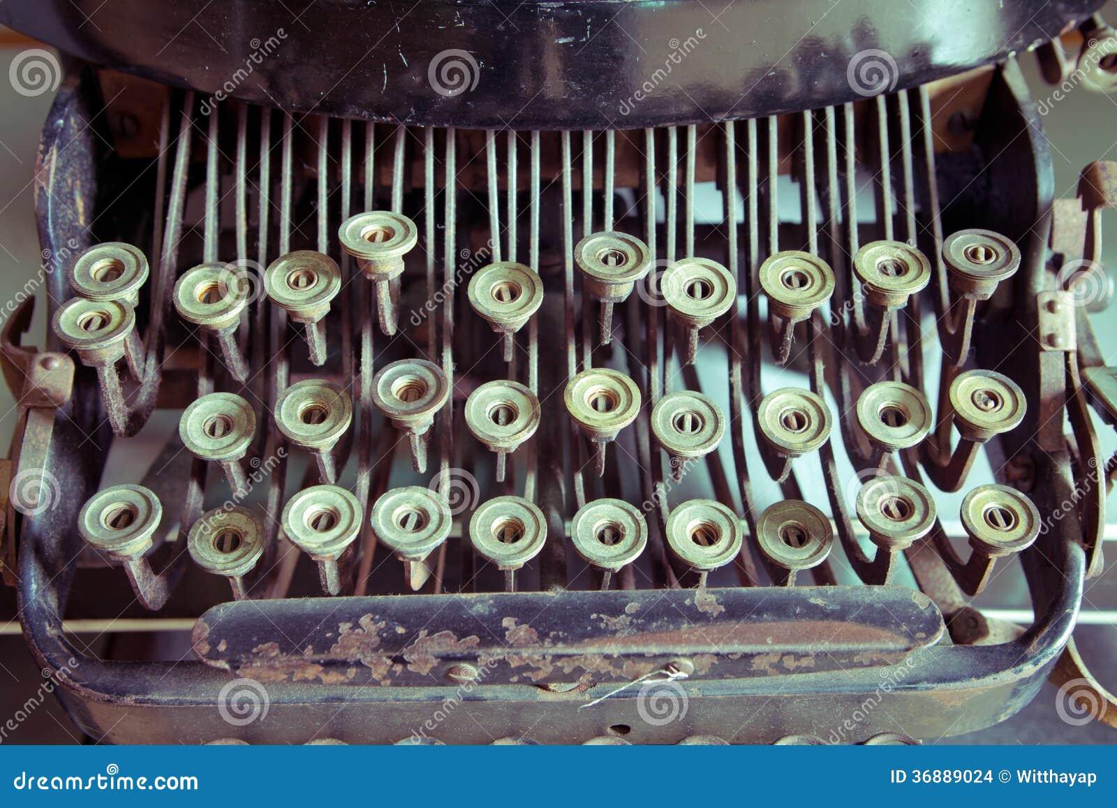 Download Macchina Da Scrivere D'annata Fotografia Stock - Immagine di apparecchiatura, vecchio: 36889024