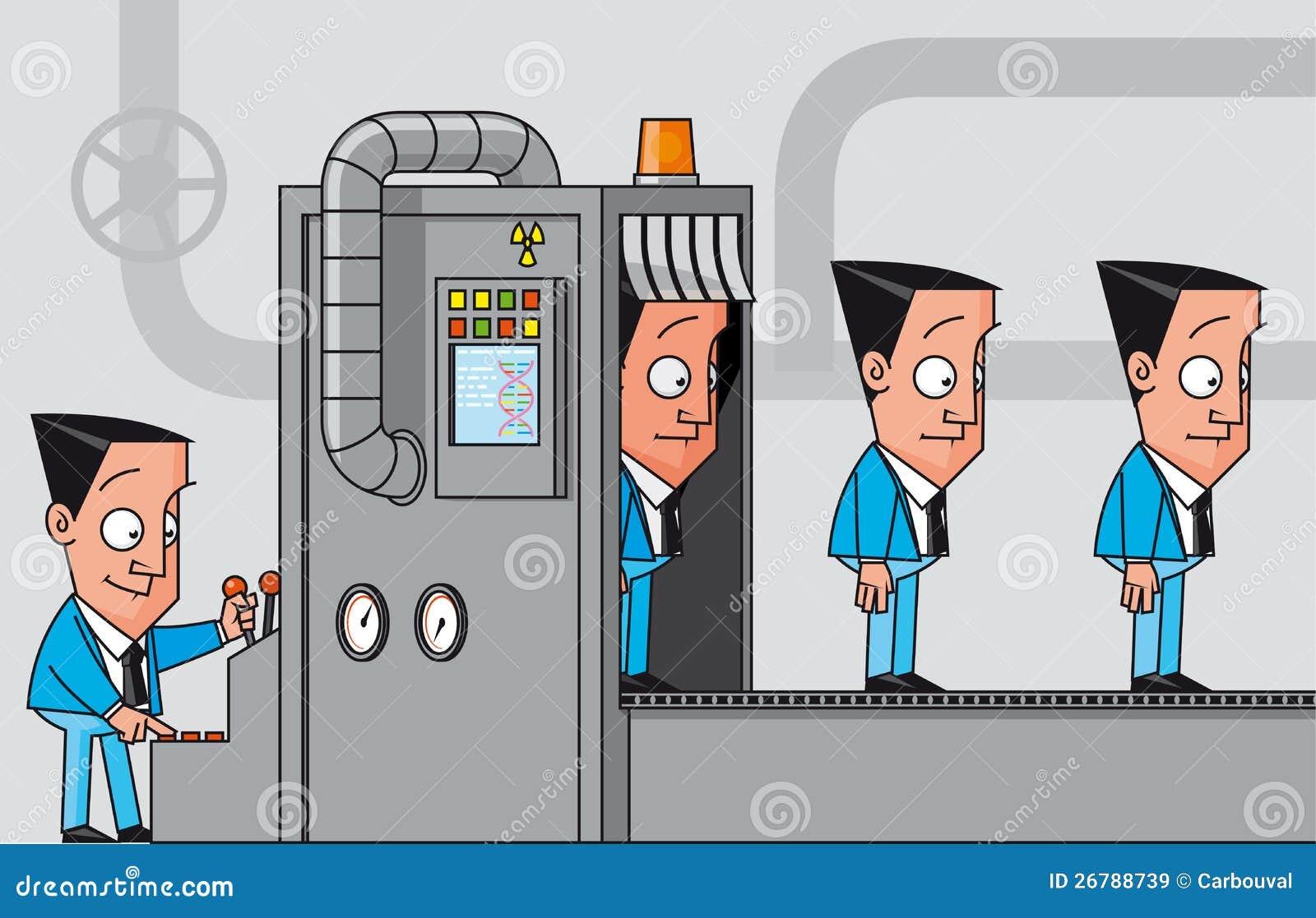 Macchina della clonazione degli uomini d affari