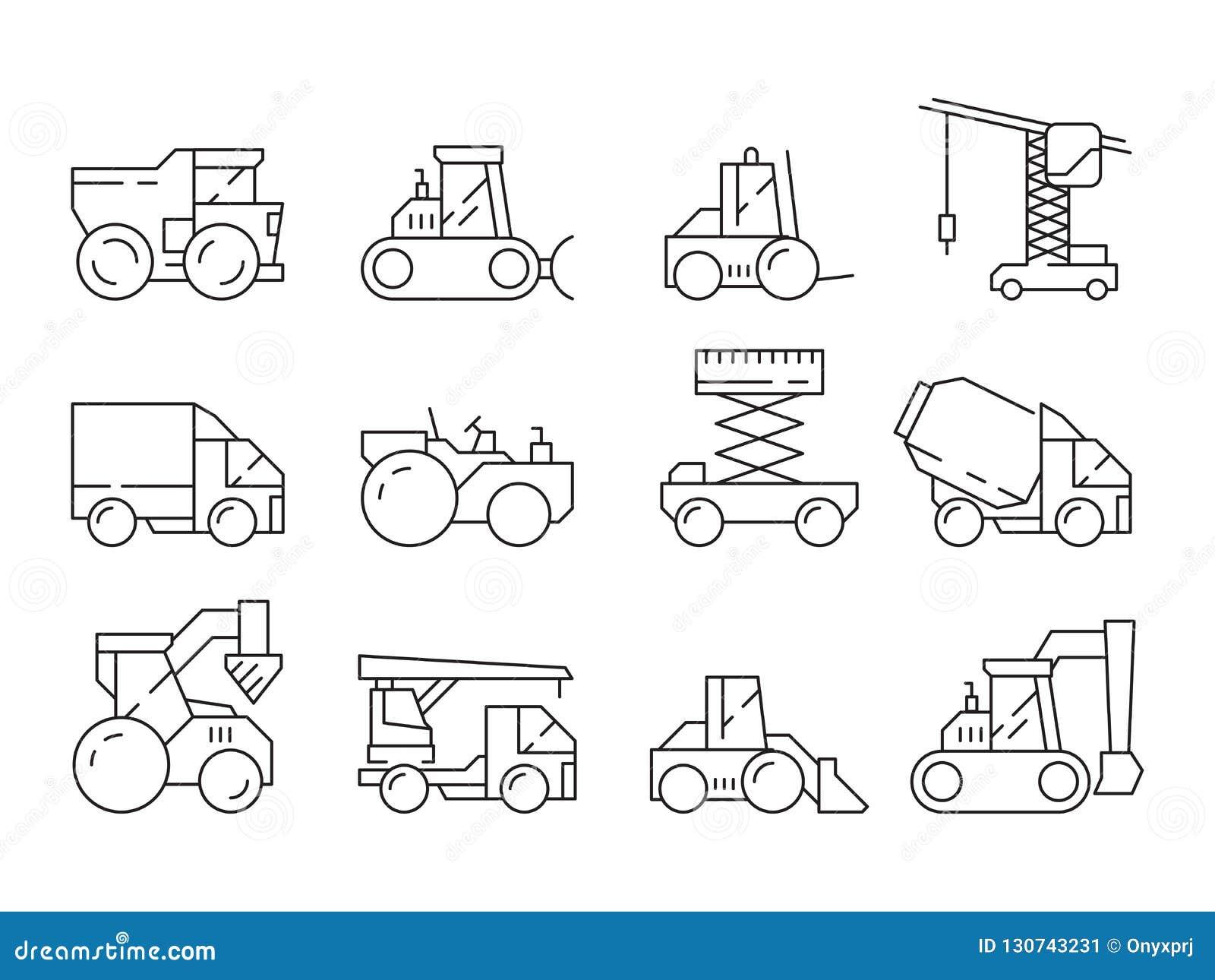 Macchina della costruzione Veicolo della mietitrice della gru del camion pesante del bulldozer per l insieme lineare di costruzio
