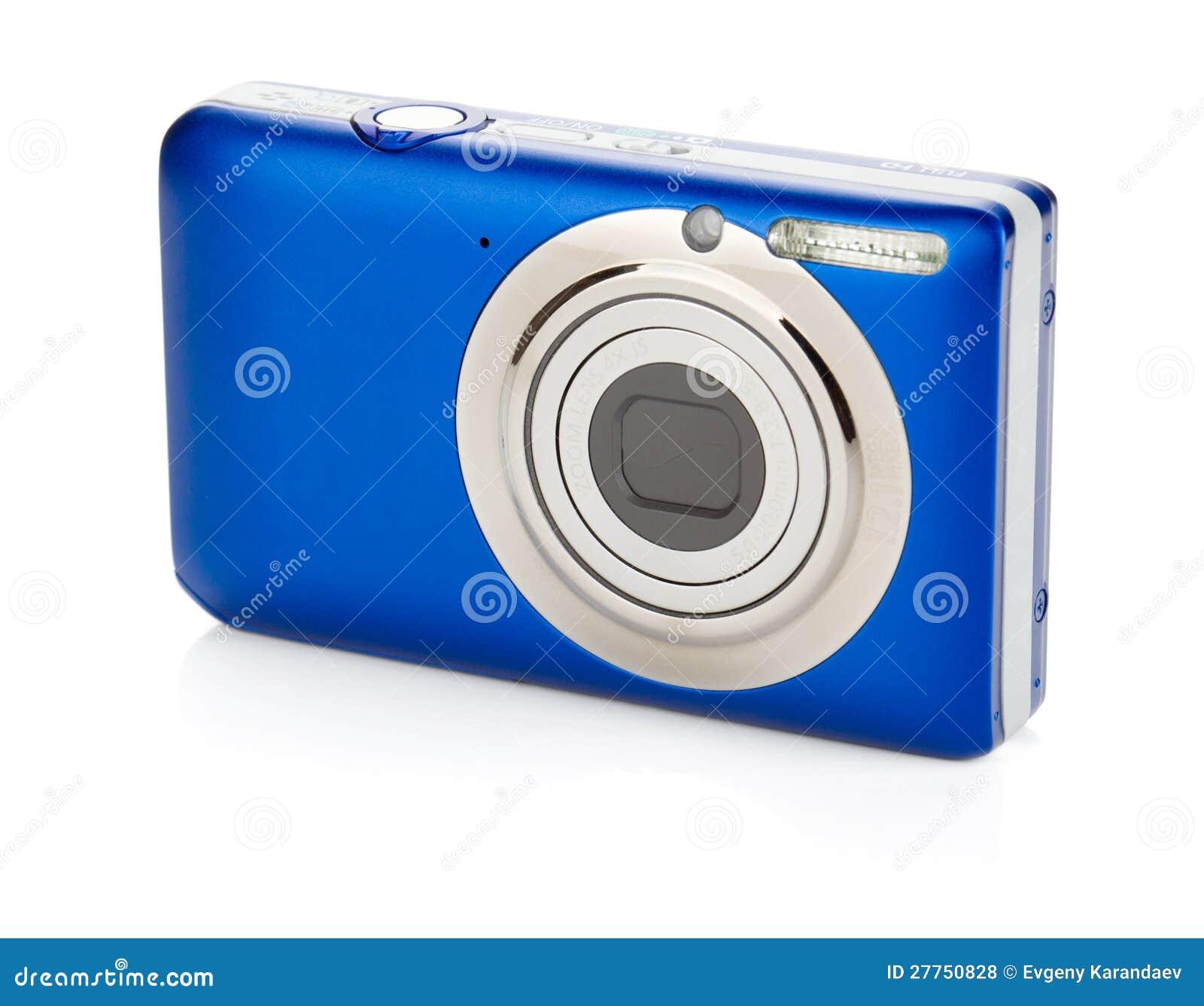 Macchina fotografica compatta blu fotografie stock libere for Macchina fotografica compatta
