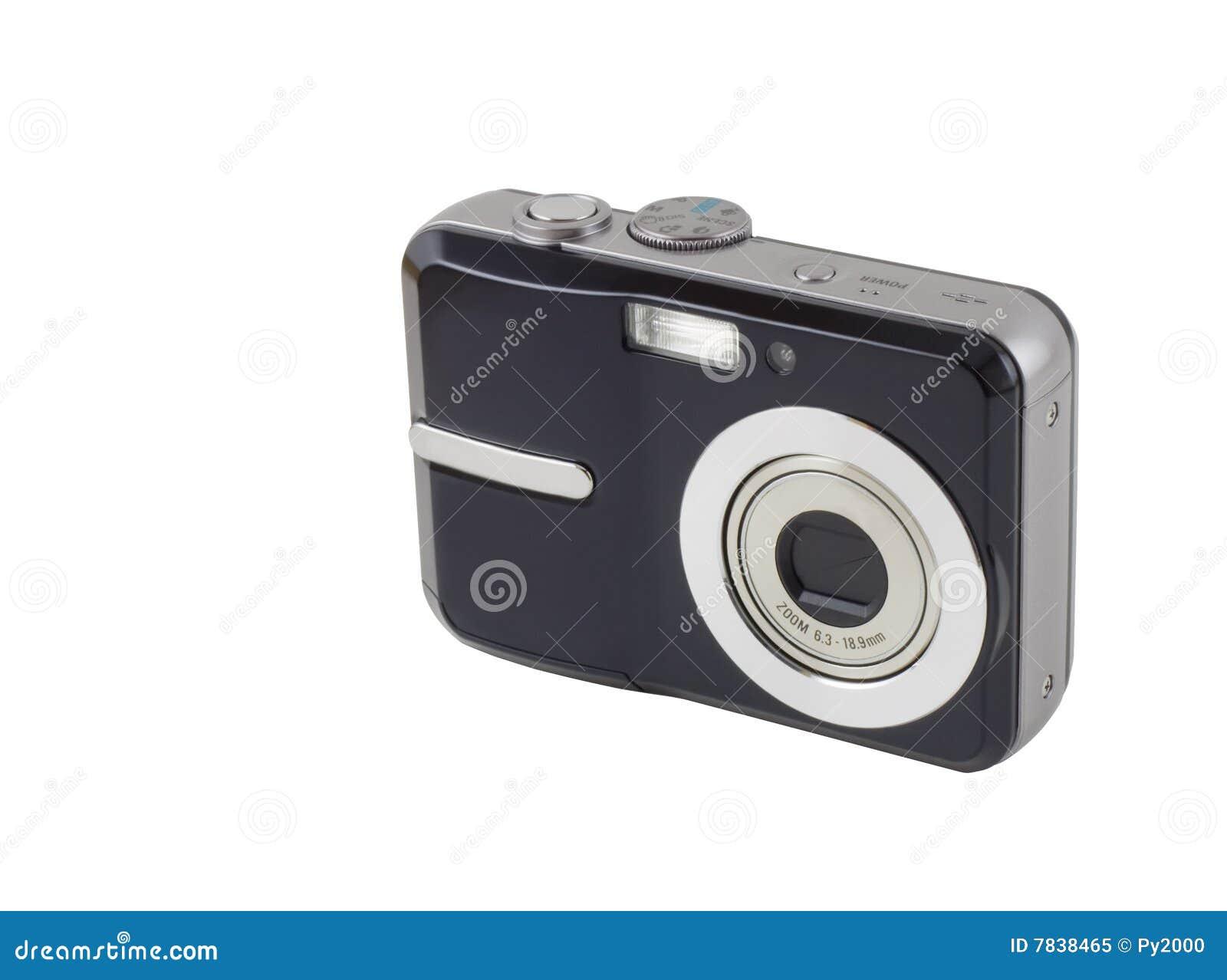 Macchina fotografica compatta di digitahi isolata con il for Macchina fotografica compatta