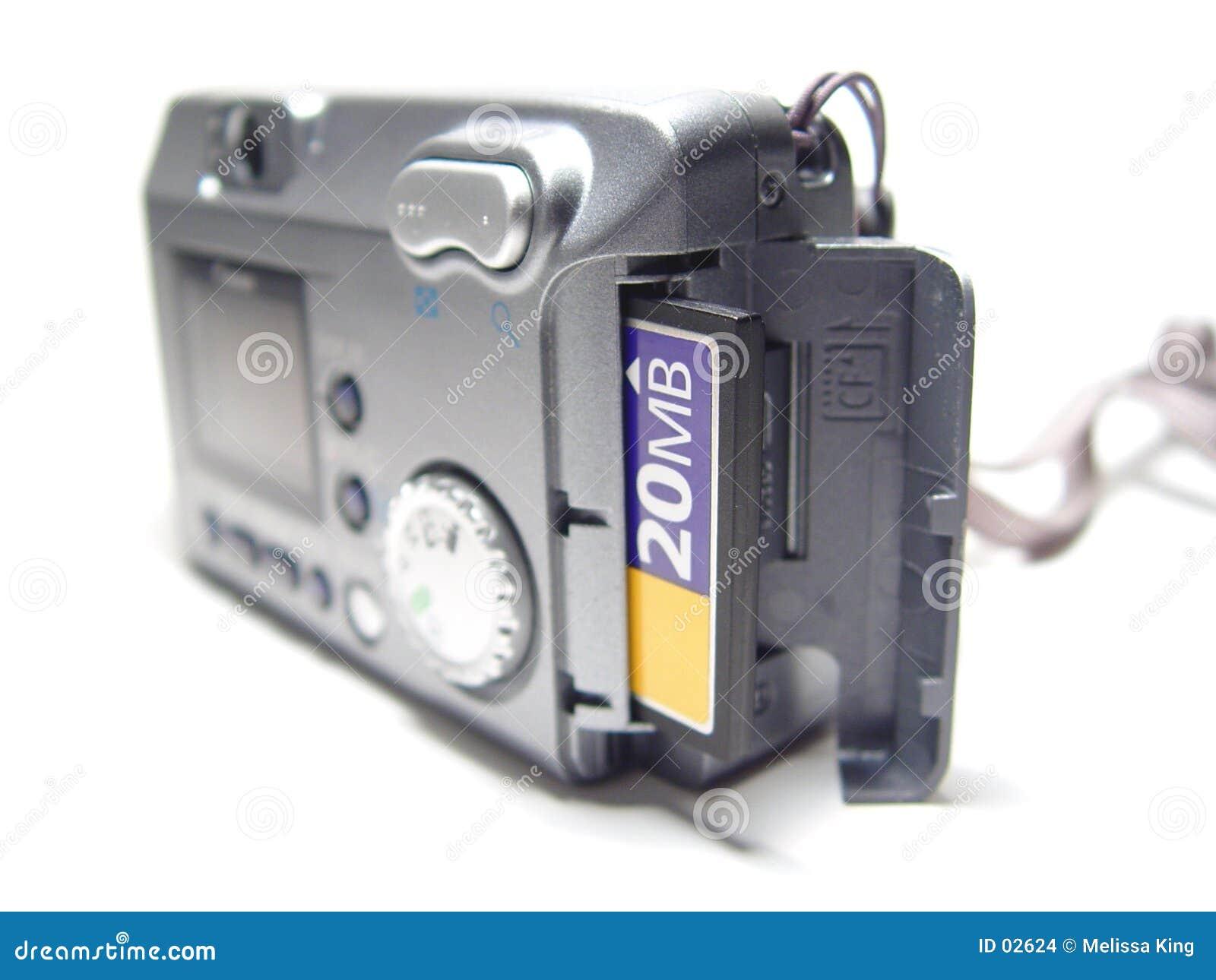Macchina fotografica con la scheda